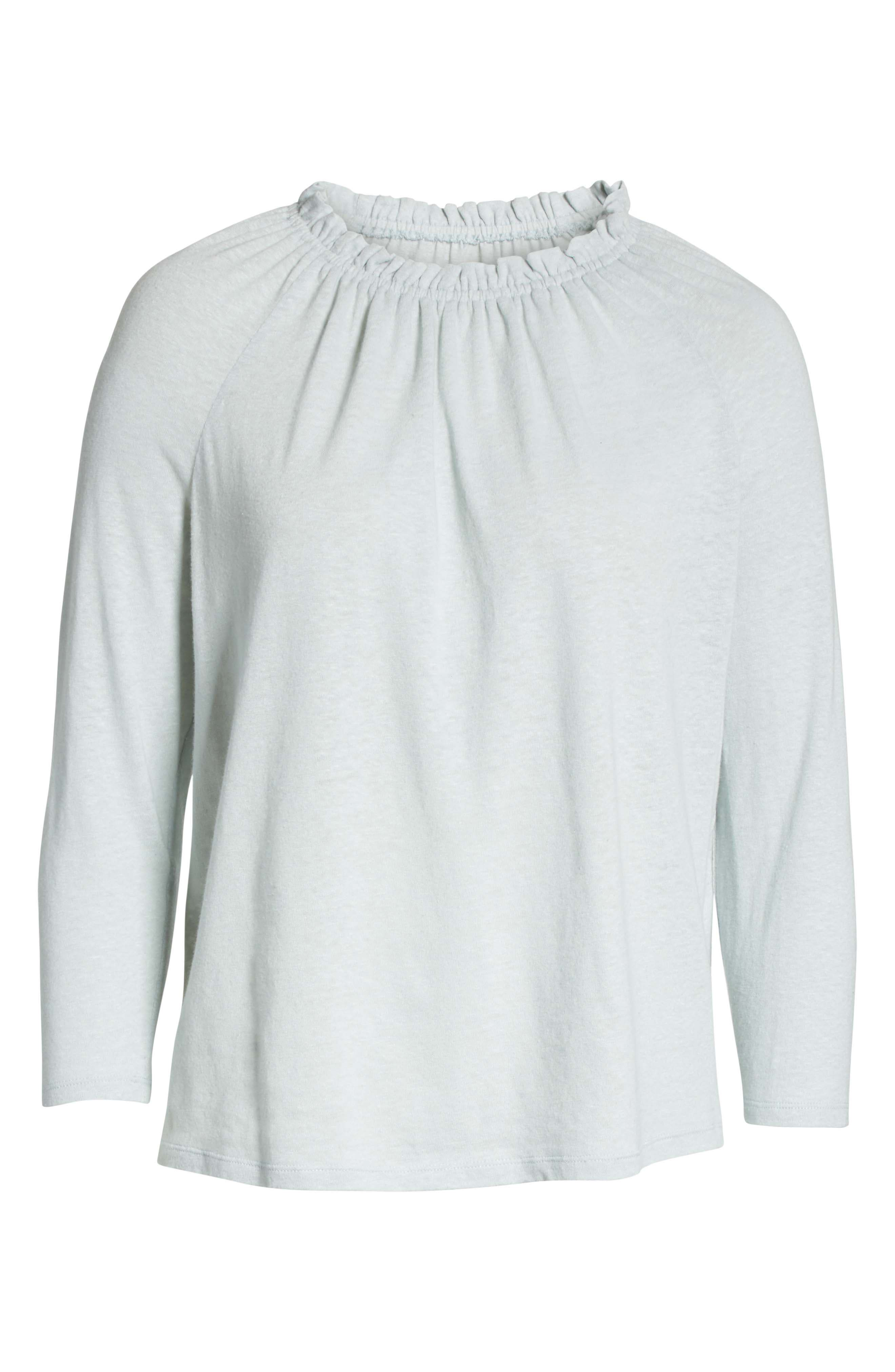 Texture Jersey Off the Shoulder Top,                             Alternate thumbnail 6, color,