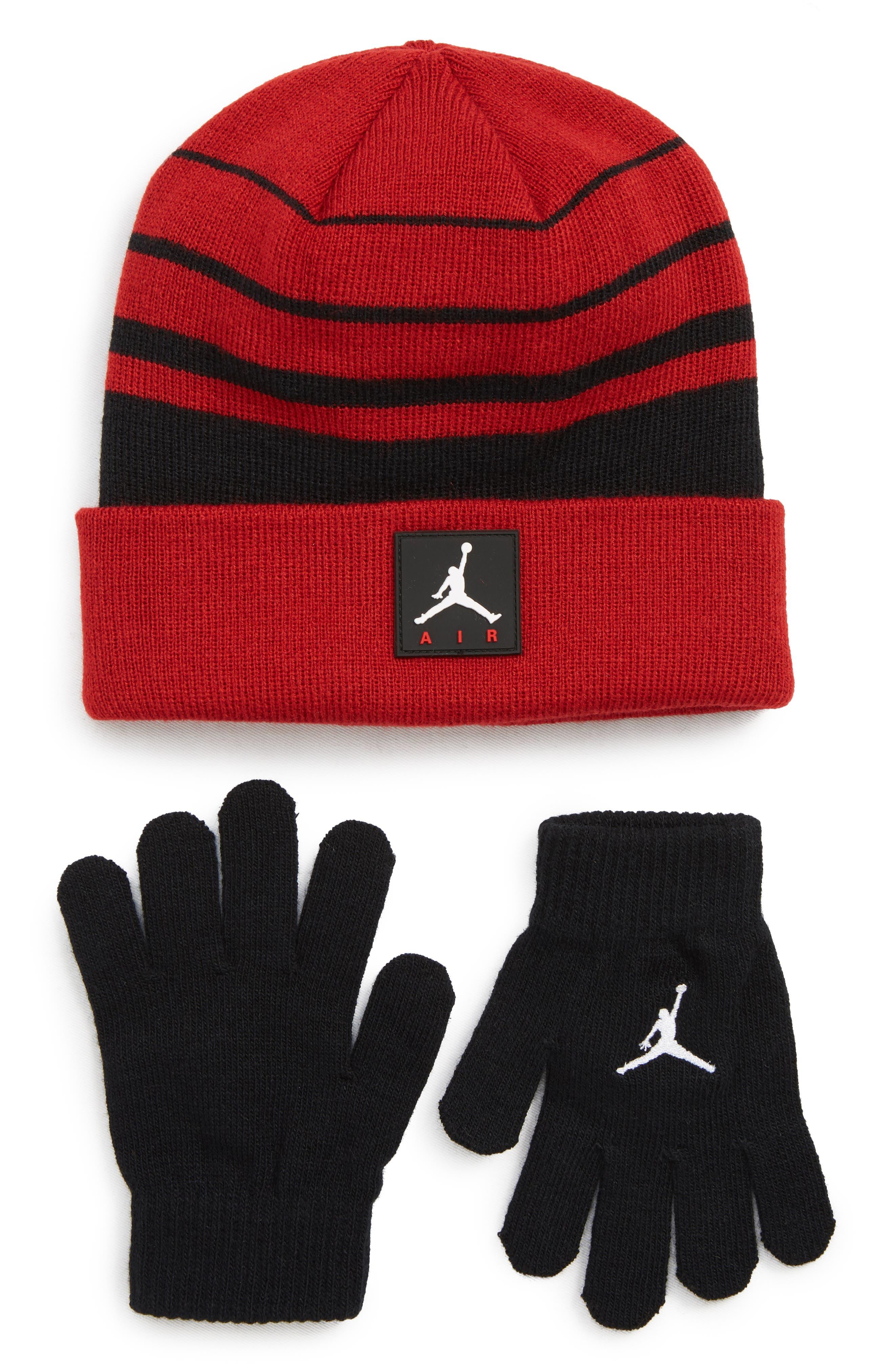 Boys Jordan Air Beanie  Gloves Set