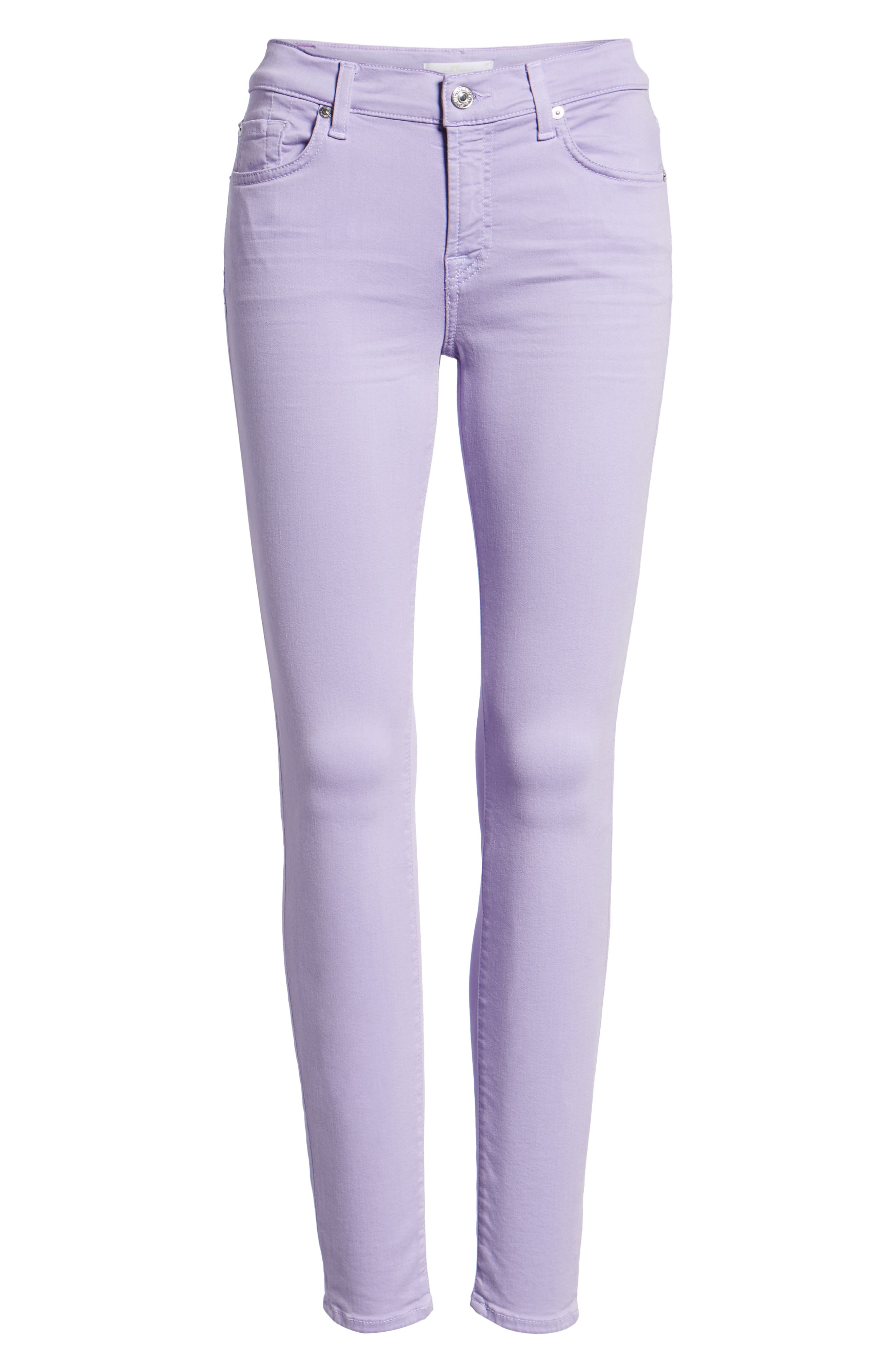 The Ankle Skinny Jeans,                             Alternate thumbnail 7, color,                             SOFT LILAC