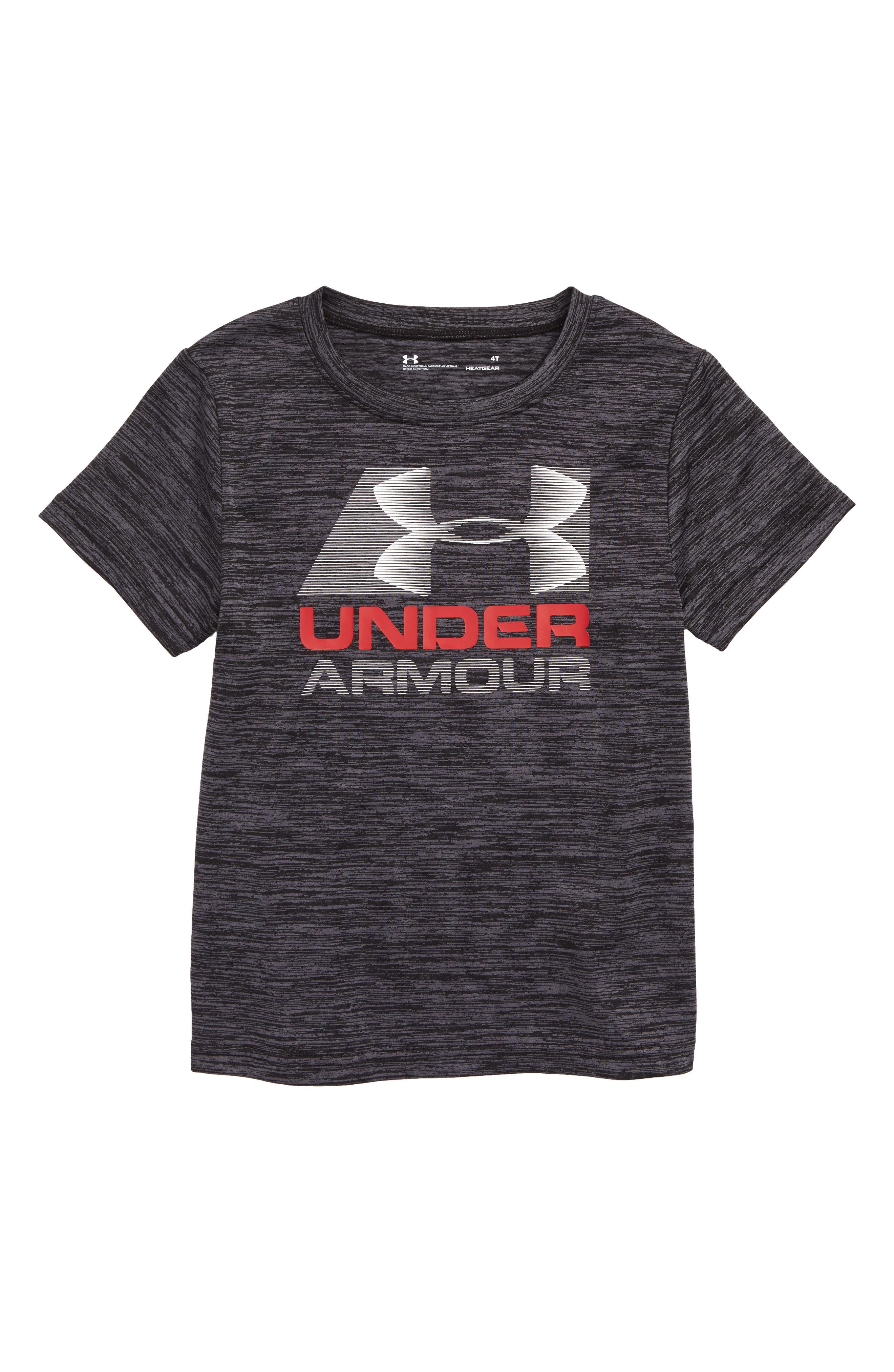 Zoom Twist HeatGear<sup>®</sup> T-Shirt,                         Main,                         color, BLACK