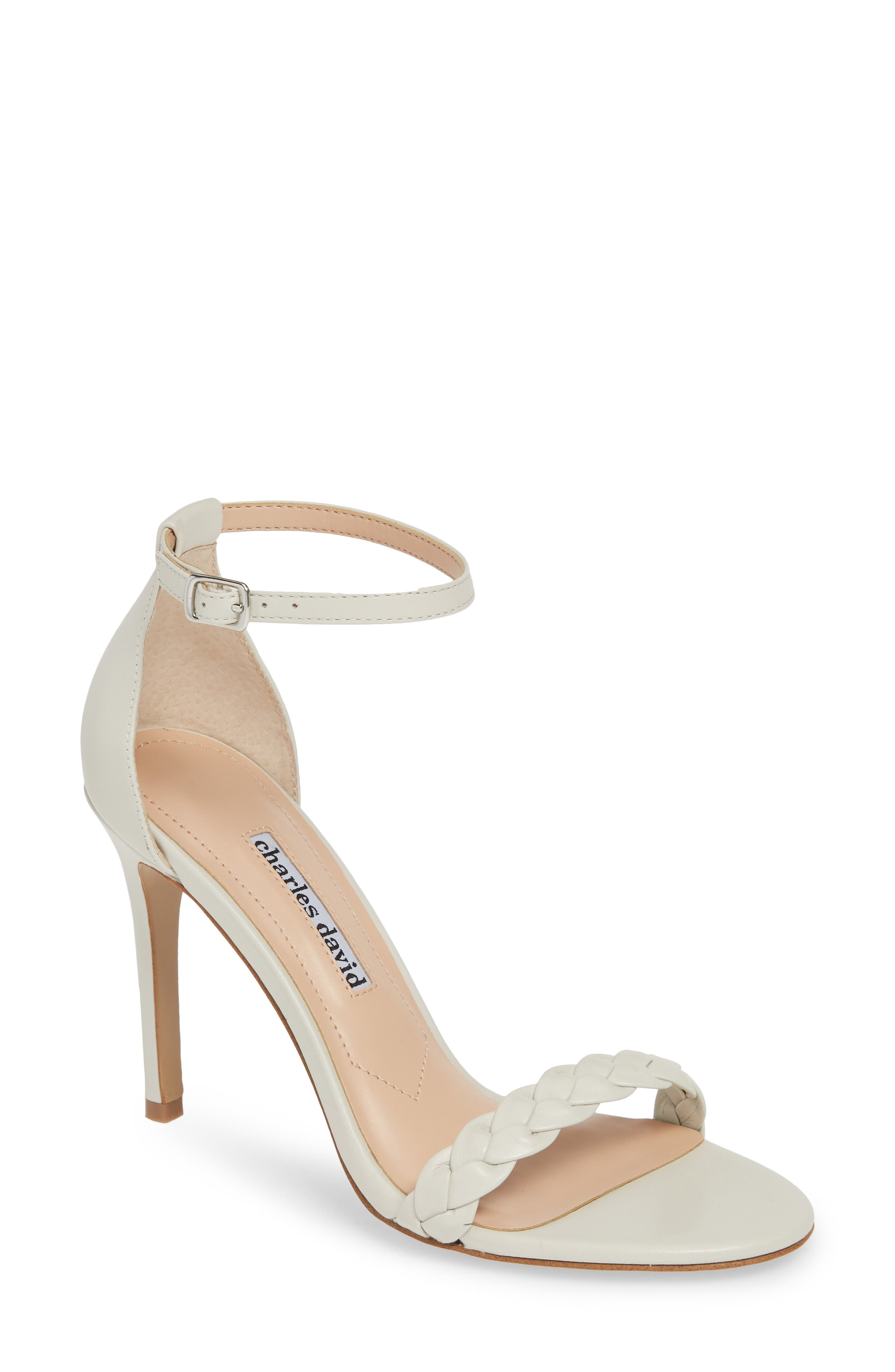 Charles David Sandals CAMOMILE BRAIDED ANKLE STRAP SANDAL