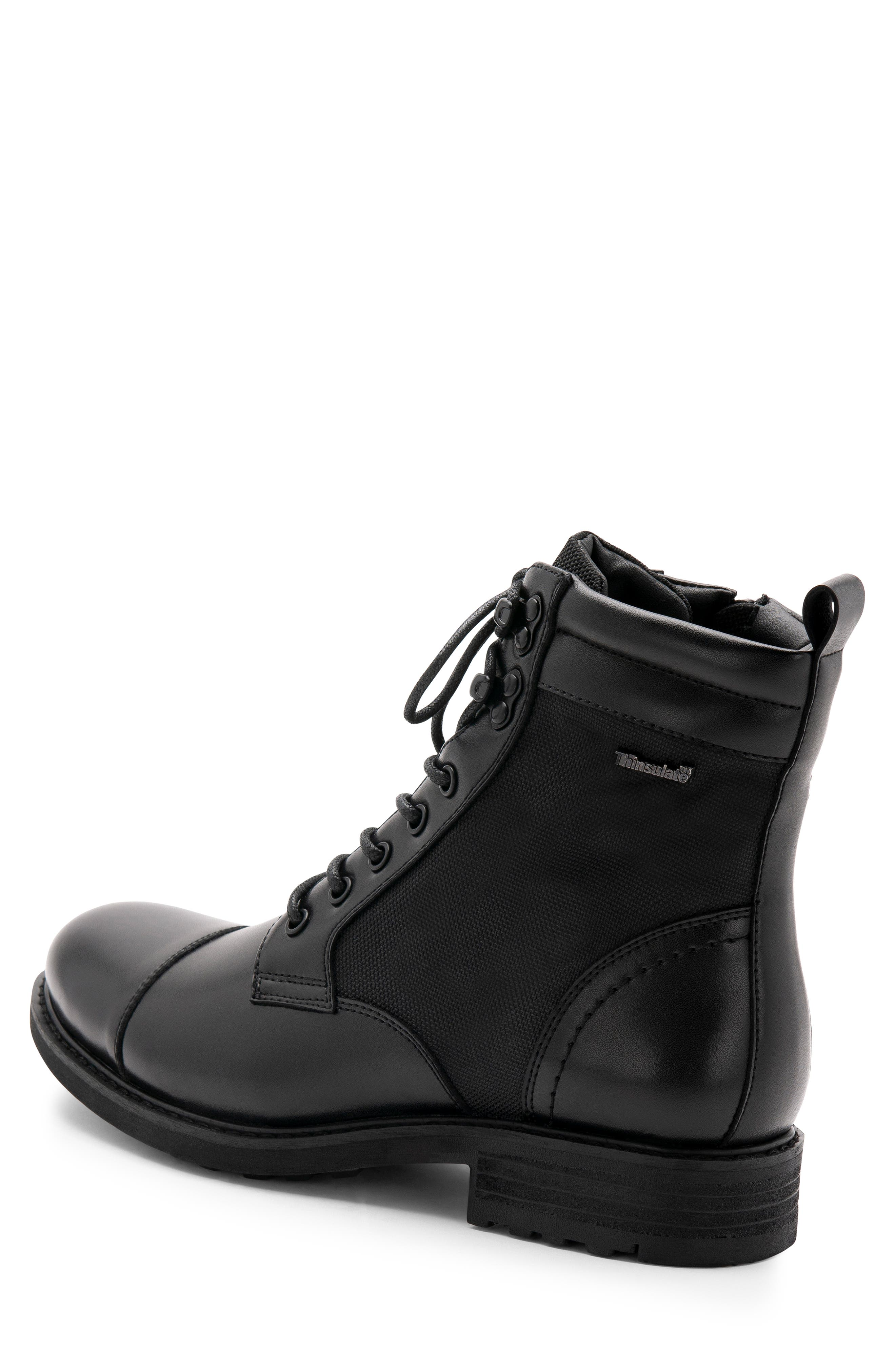Paxton Waterproof Cap Toe Boot,                             Alternate thumbnail 2, color,                             BLACK LEATHER