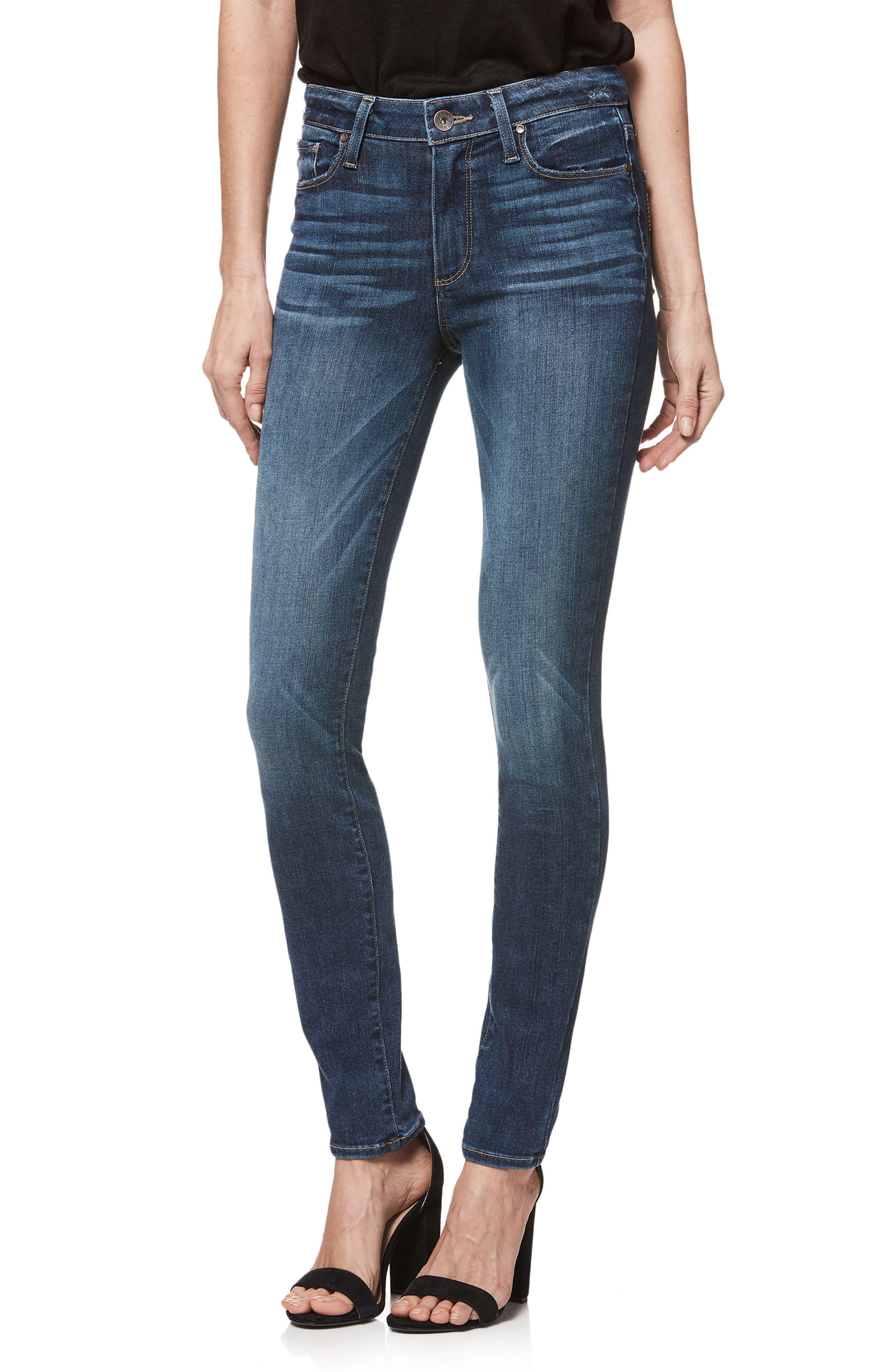 Transcend Vintage - Hoxton High Waist Ultra Skinny Jeans,                             Main thumbnail 1, color,                             400