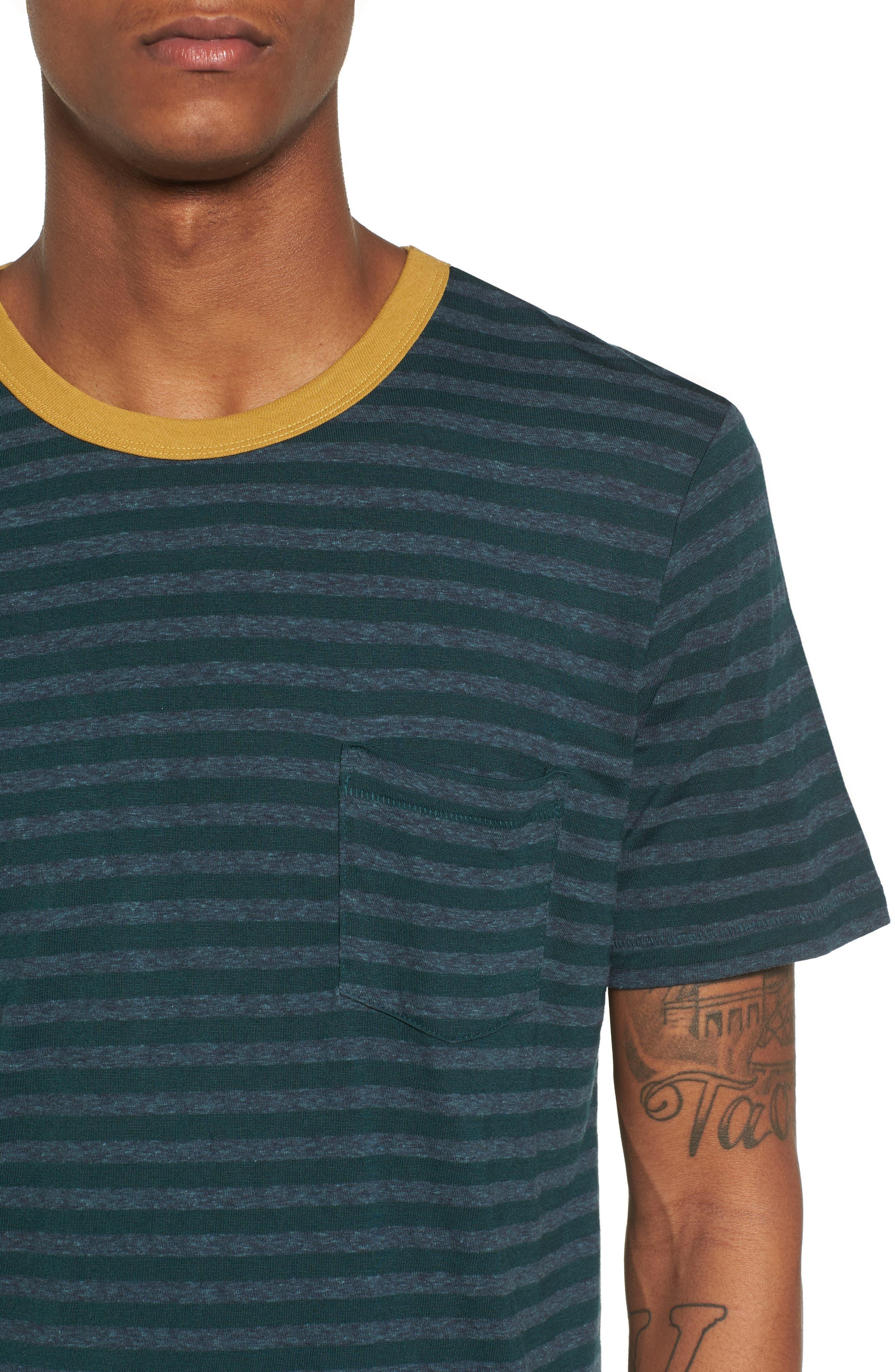 Stripe Ringer T-Shirt,                             Alternate thumbnail 4, color,