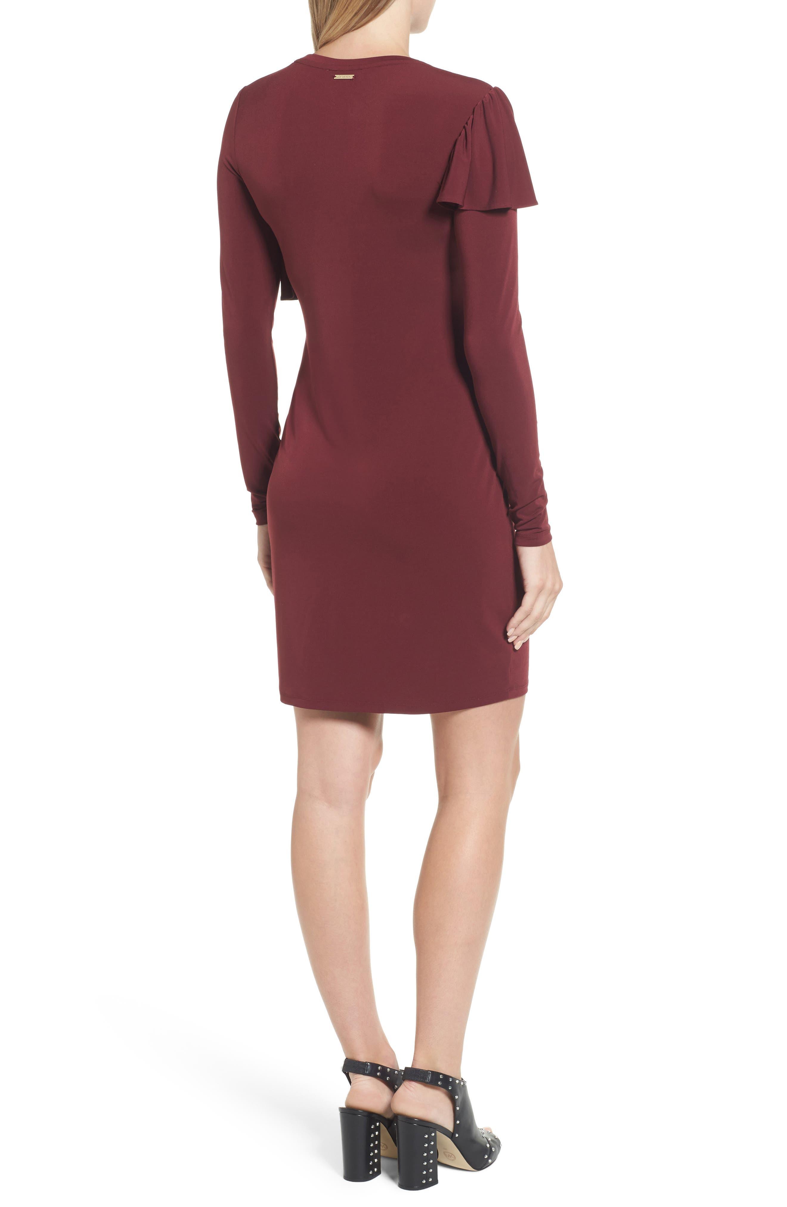 Long Sleeve Ruffle Dress,                             Alternate thumbnail 2, color,                             633