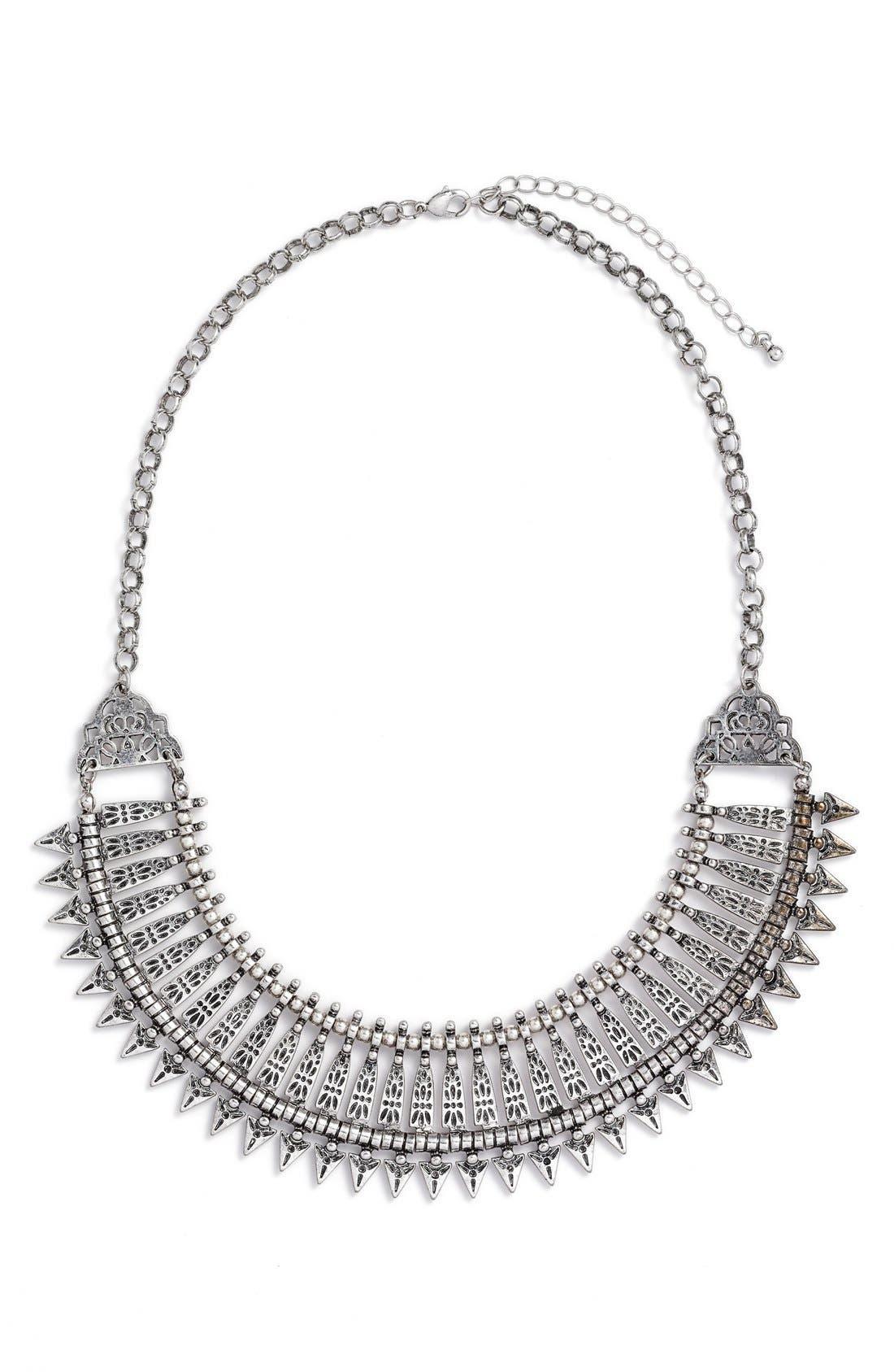 Metal Collar Statement Necklace,                             Main thumbnail 1, color,                             040