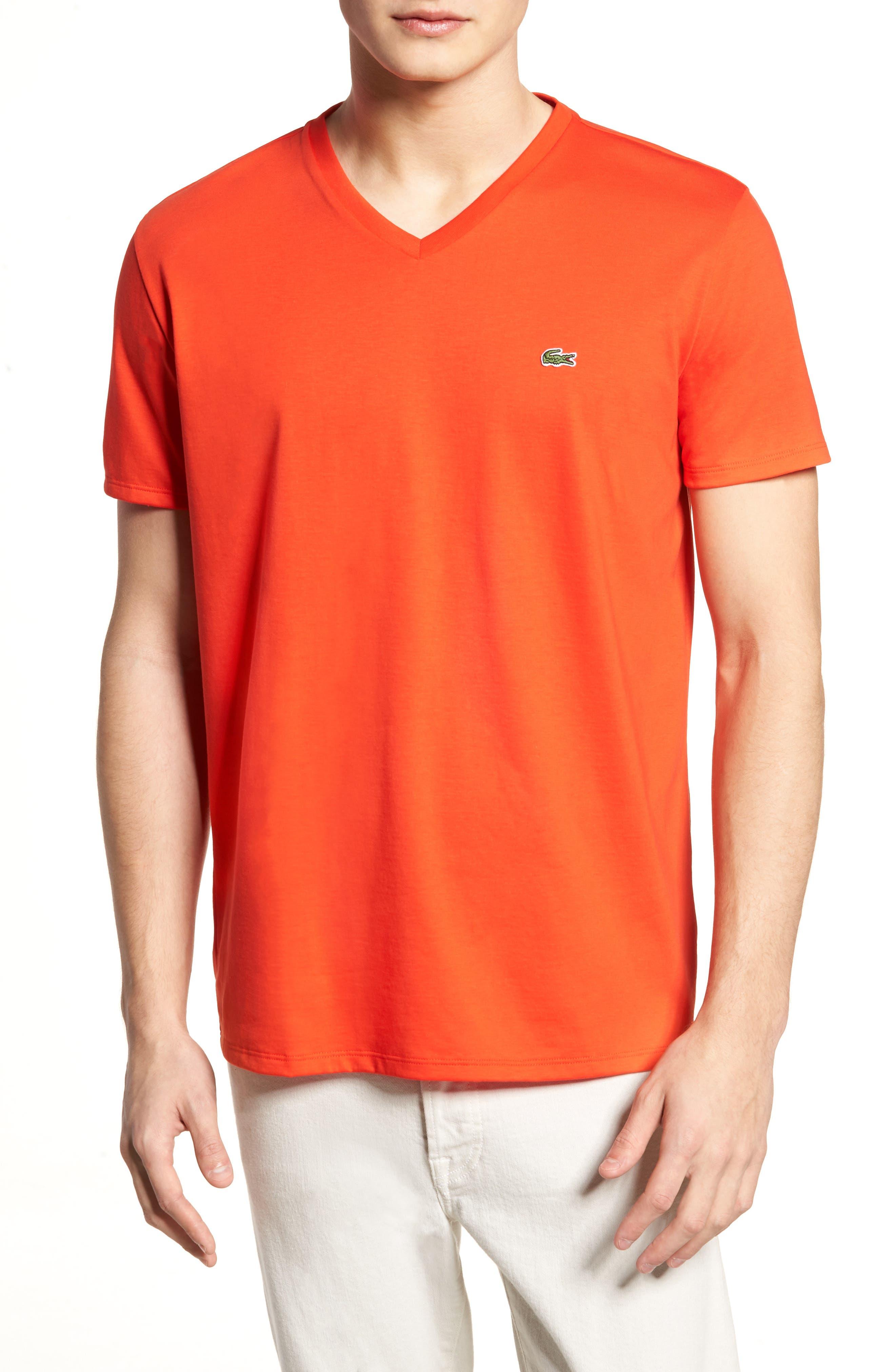 V-Neck Cotton T-Shirt,                             Main thumbnail 8, color,