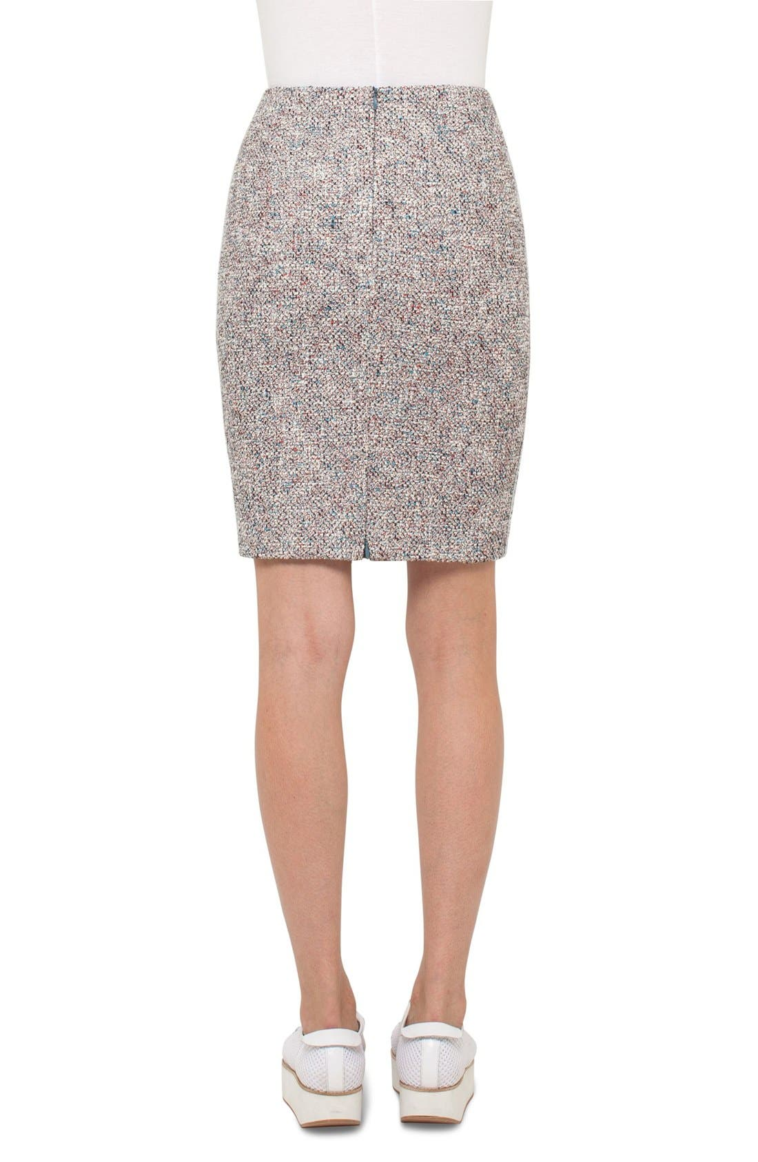 Stretch Tweed Pencil Skirt,                             Alternate thumbnail 2, color,                             900
