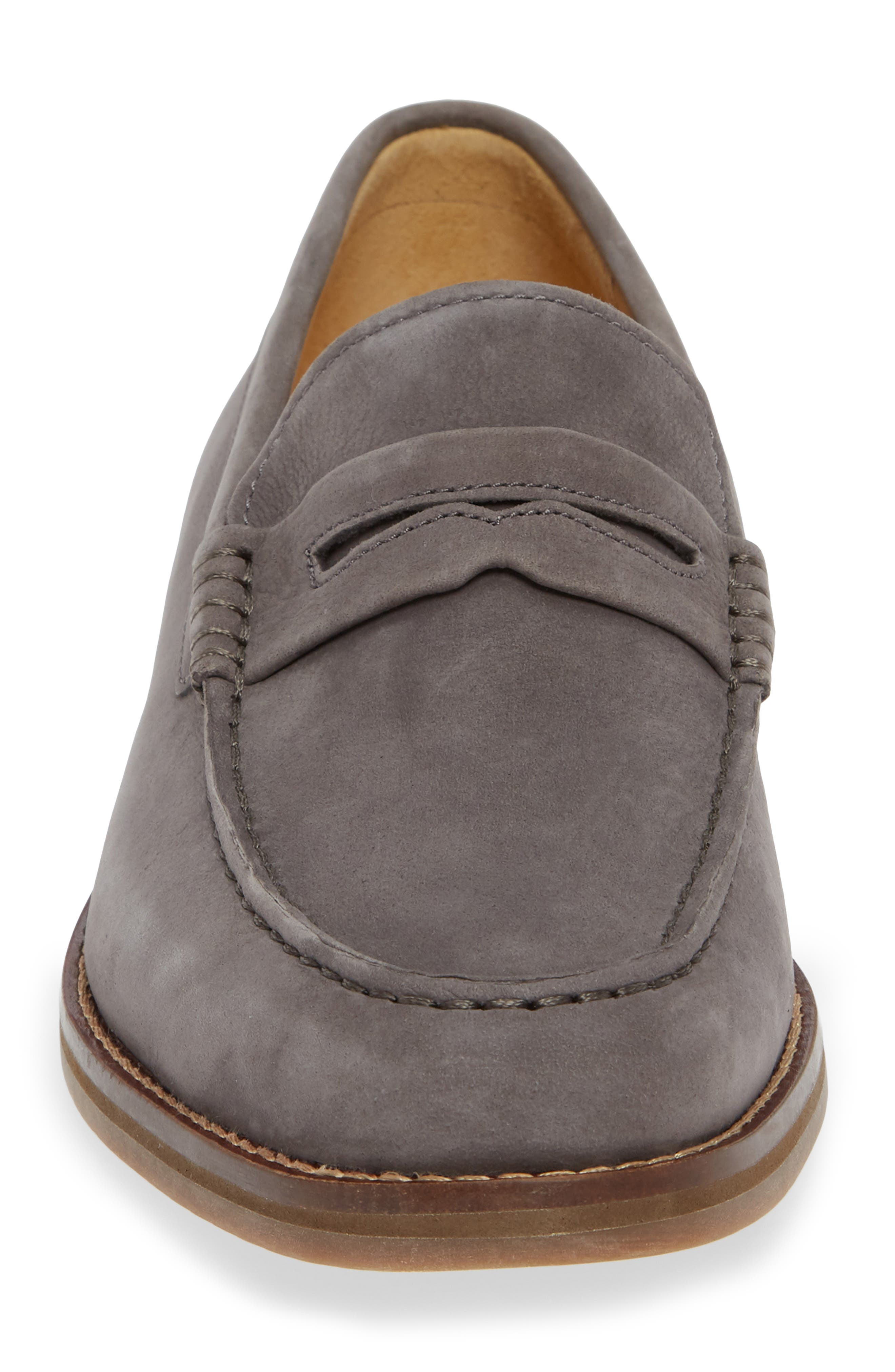 Gold Cup Exeter Penny Loafer,                             Alternate thumbnail 4, color,                             GREY