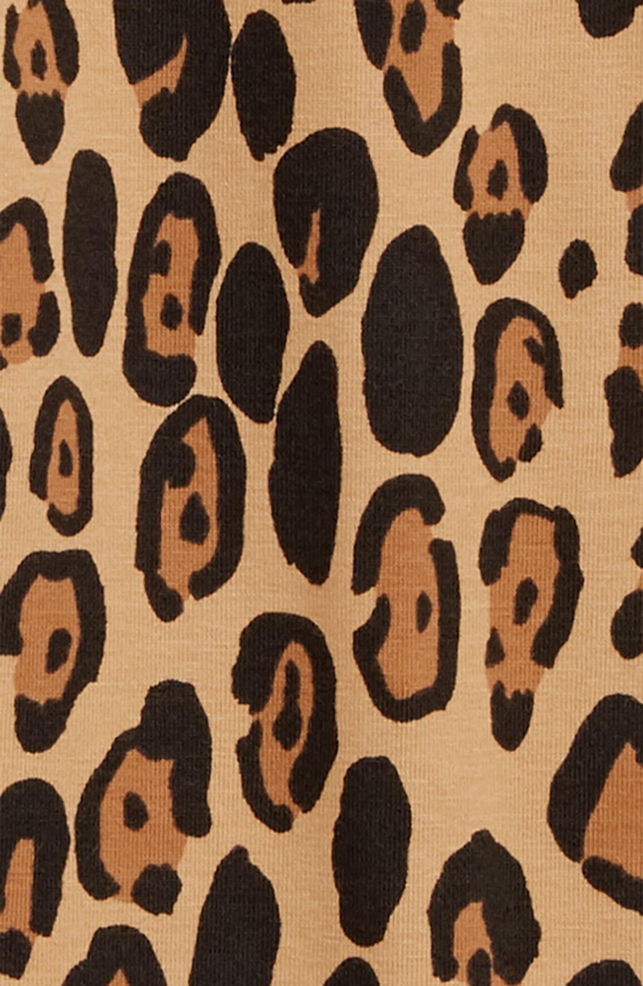 Leopard Leggings,                             Alternate thumbnail 2, color,                             BEIGE