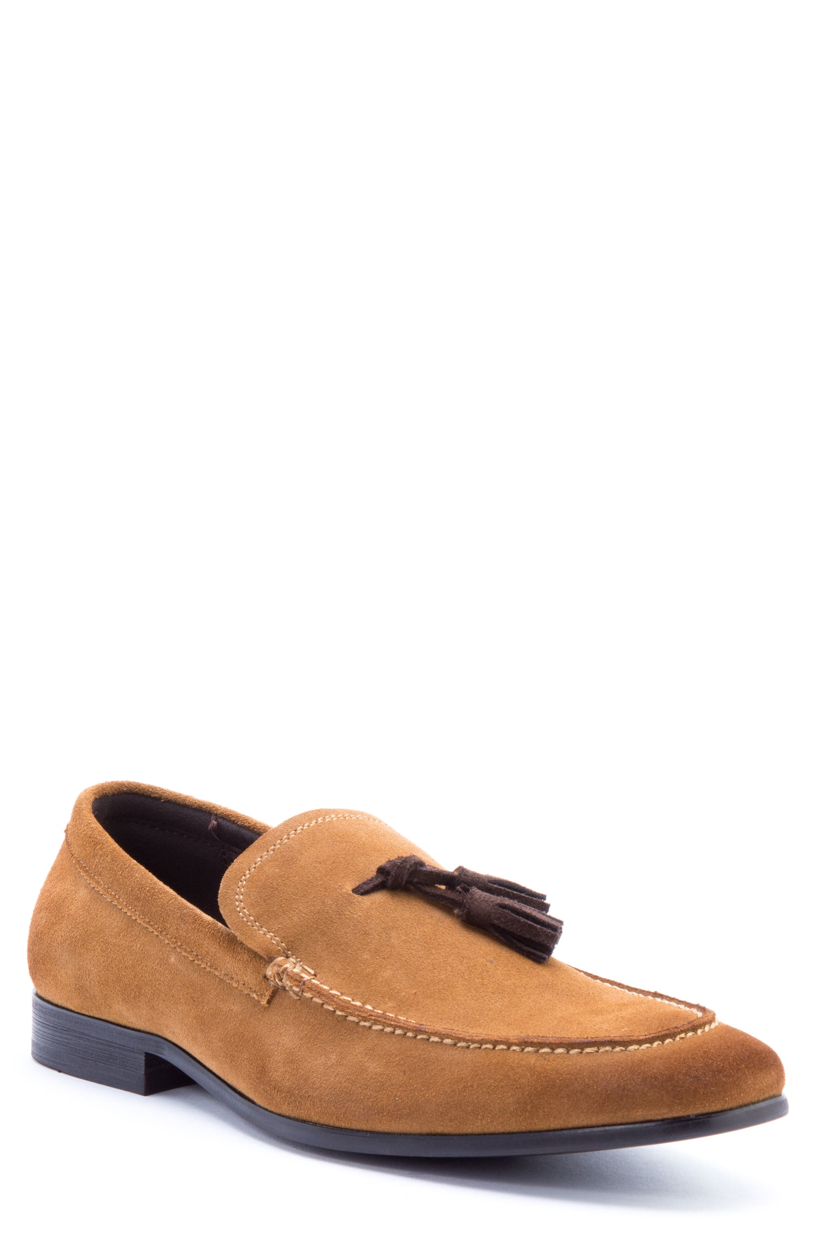 Severn Tassel Venetian Loafer,                             Main thumbnail 1, color,                             COGNAC SUEDE