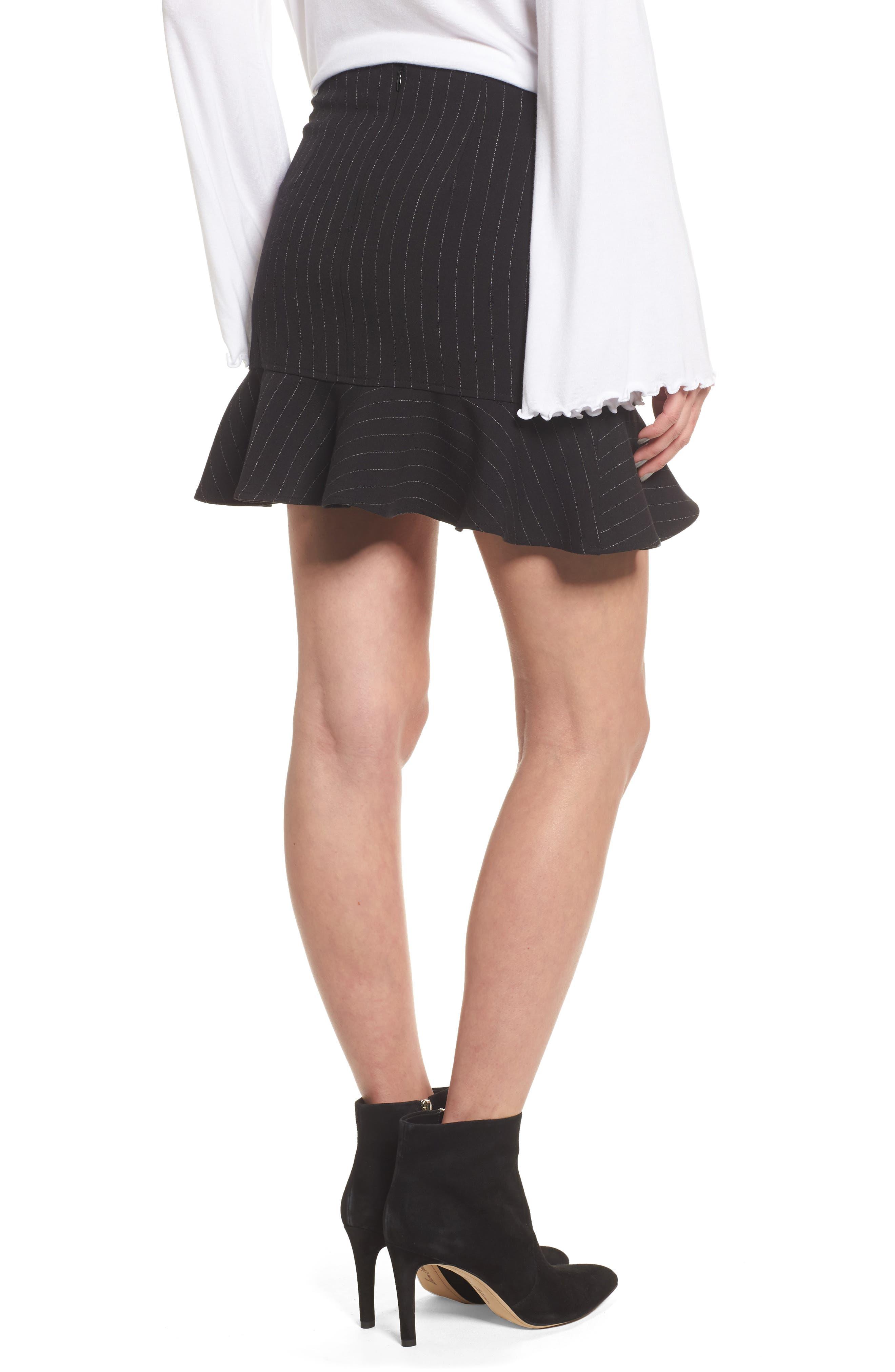 Dominic Asymmetrical Ruffle Skirt,                             Alternate thumbnail 2, color,                             001
