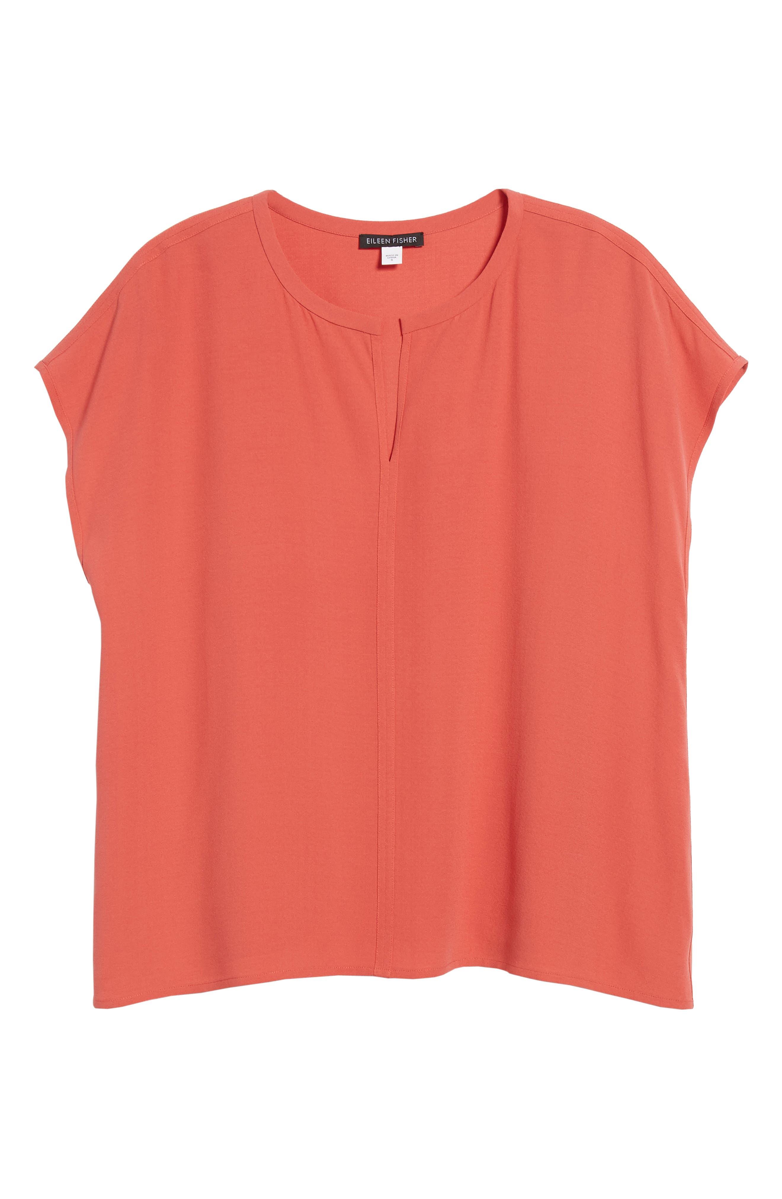 Split Neck Silk Shirt,                             Alternate thumbnail 19, color,