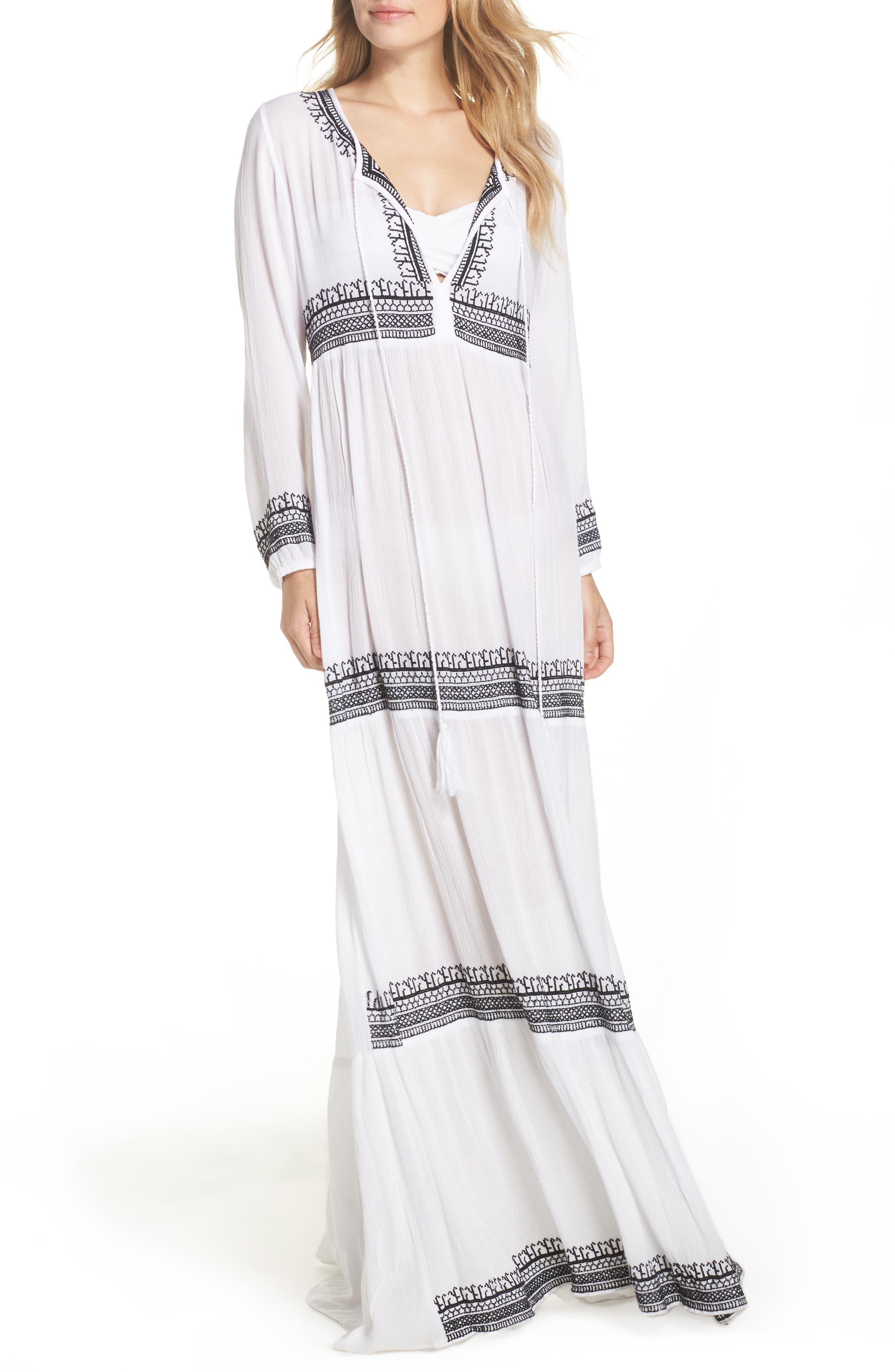 Gitana Maxi Cover-Up Dress,                         Main,                         color, 111