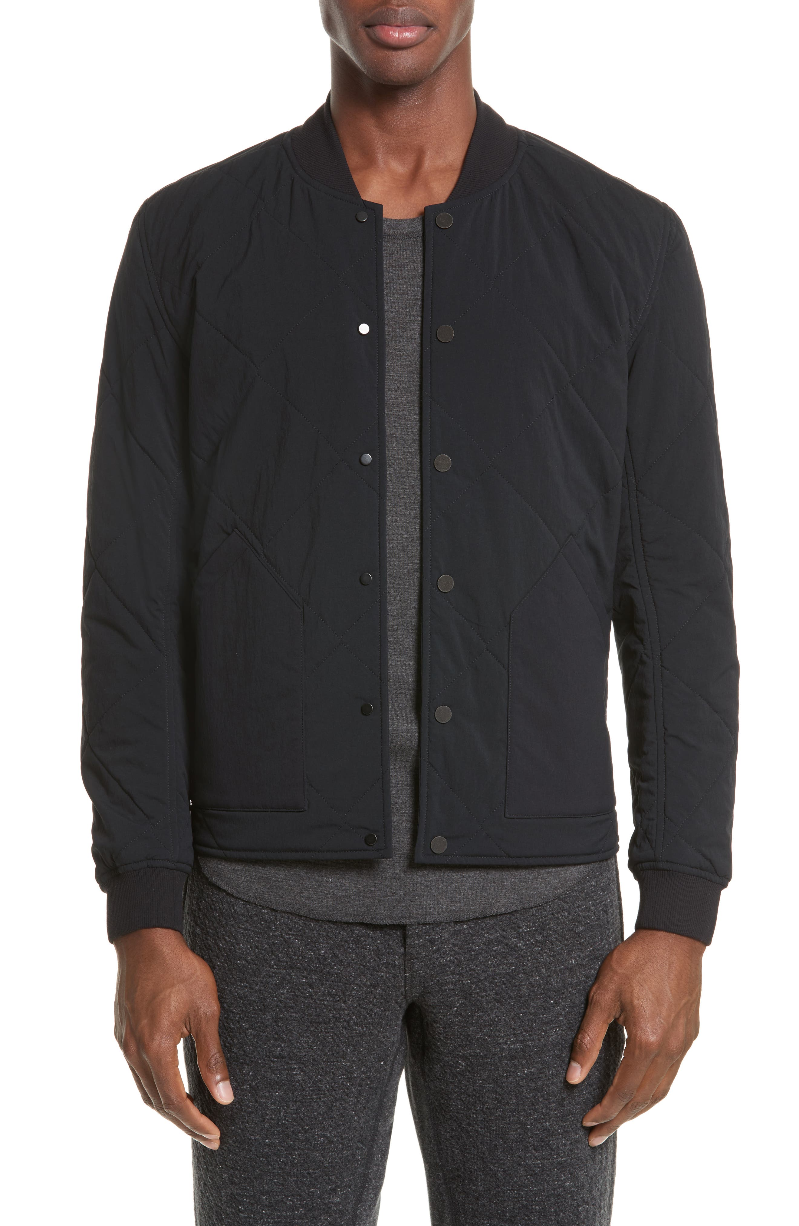 Alpha Quilted Bomber Jacket,                             Main thumbnail 1, color,                             001