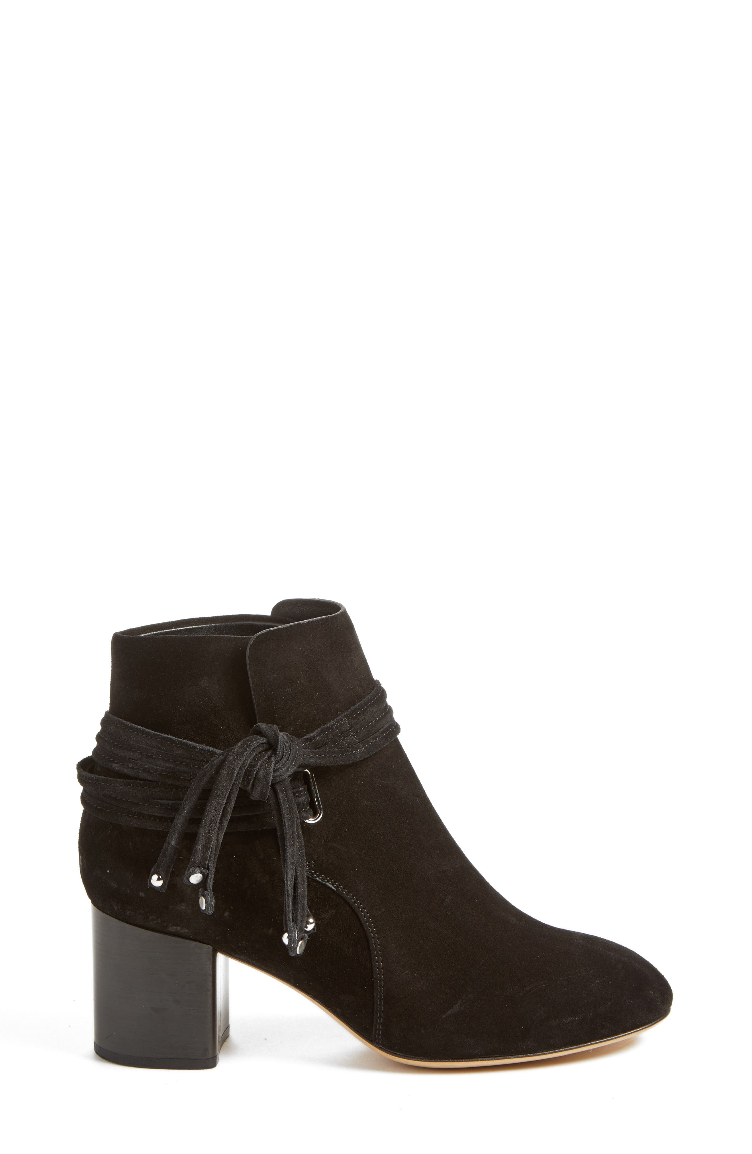 Dalia II Tie-Strap Bootie,                             Alternate thumbnail 3, color,                             008