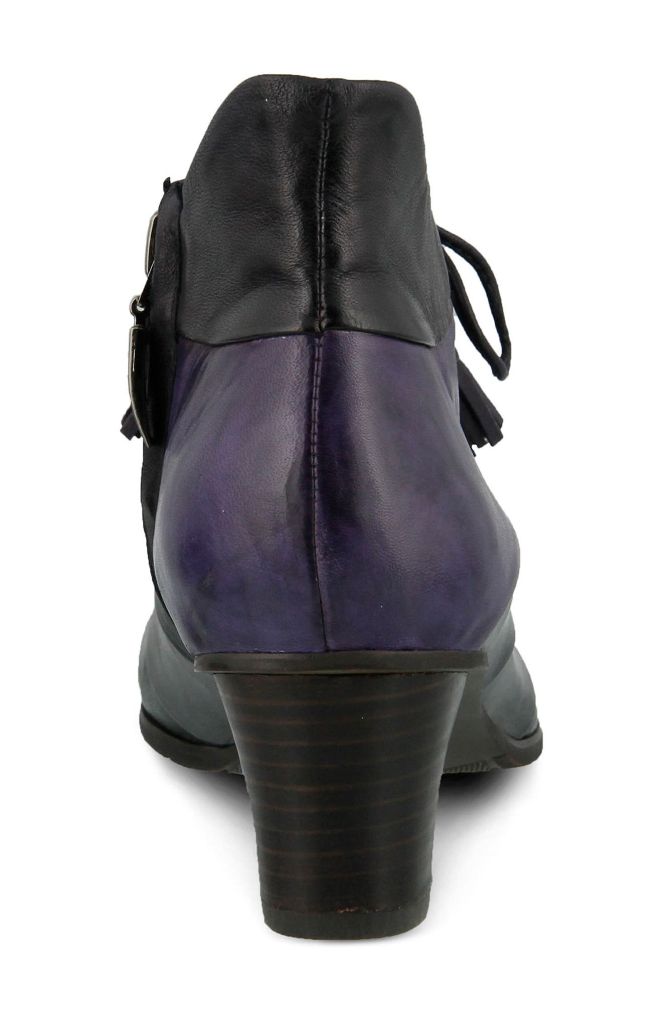 Estrela Ghillie Bootie,                             Alternate thumbnail 6, color,                             PURPLE MULTI LEATHER