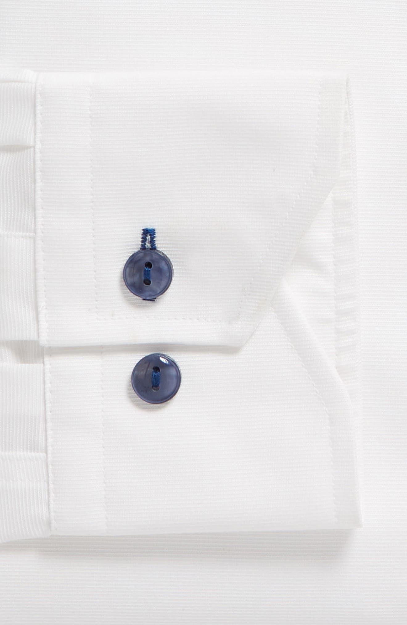 Trim Fit Solid Dress Shirt,                             Alternate thumbnail 6, color,                             100