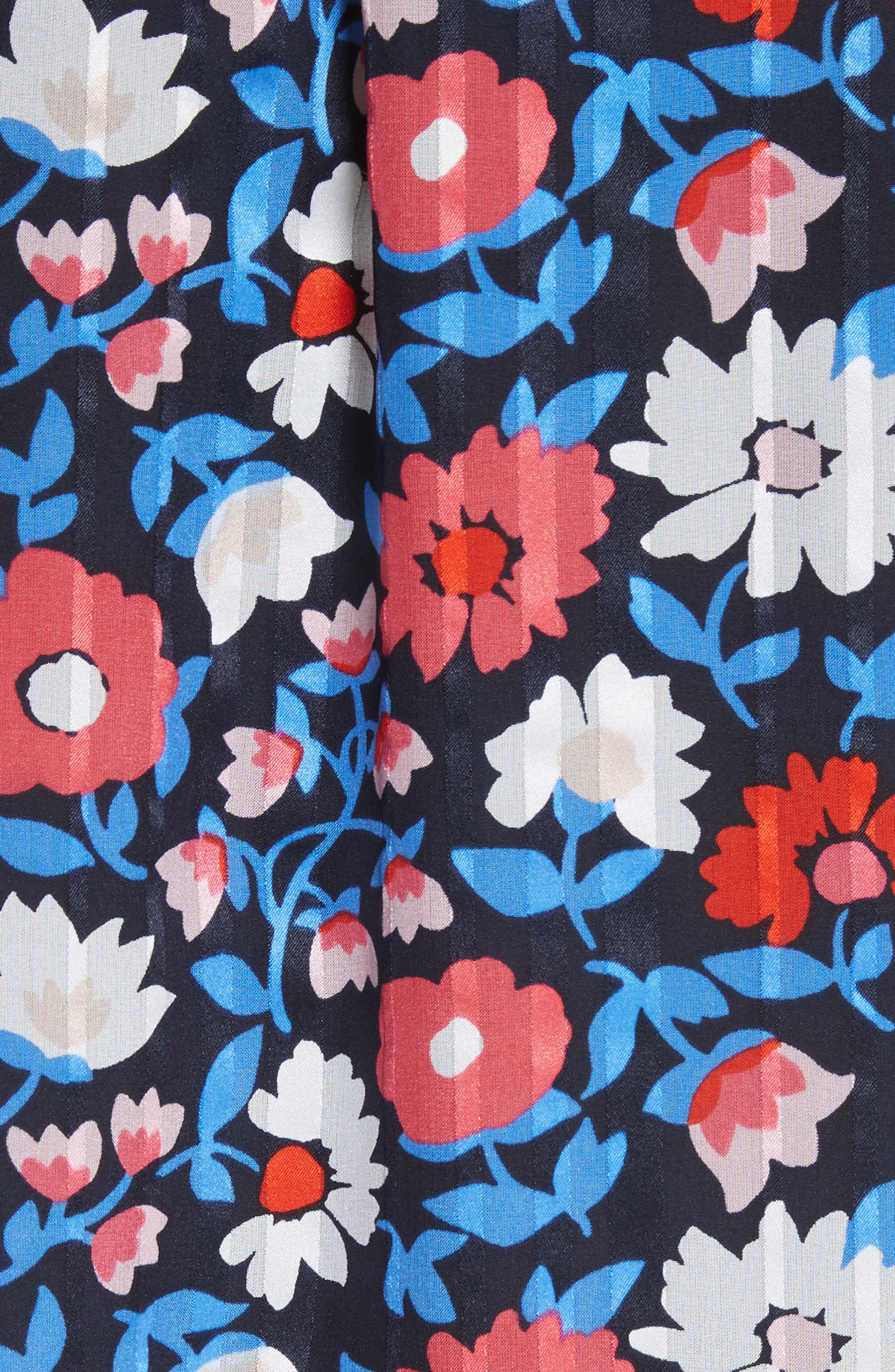 daisy satin stripe silk top,                             Alternate thumbnail 5, color,