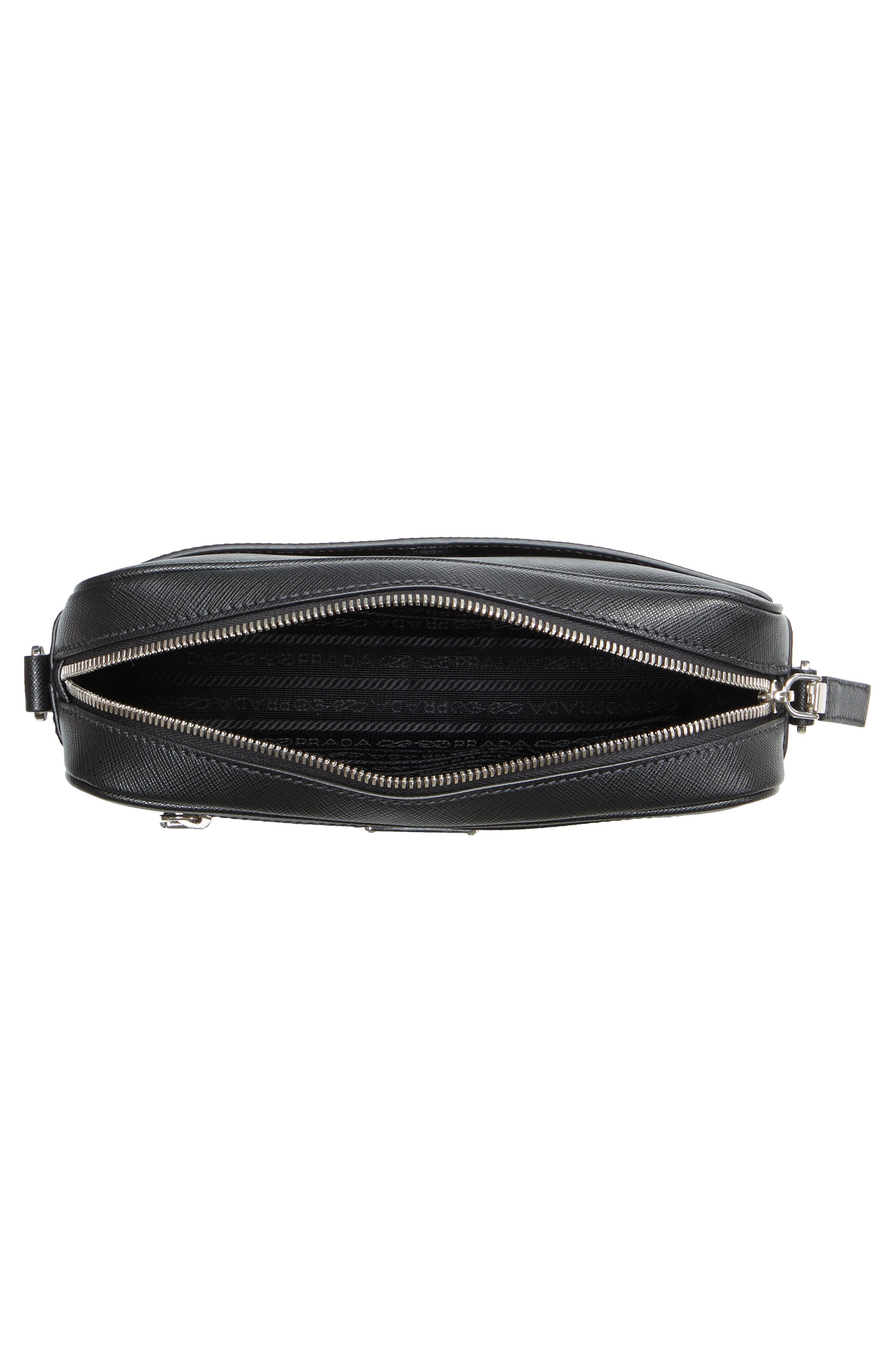 Saffiano Leather Travel Bag,                             Alternate thumbnail 4, color,                             001