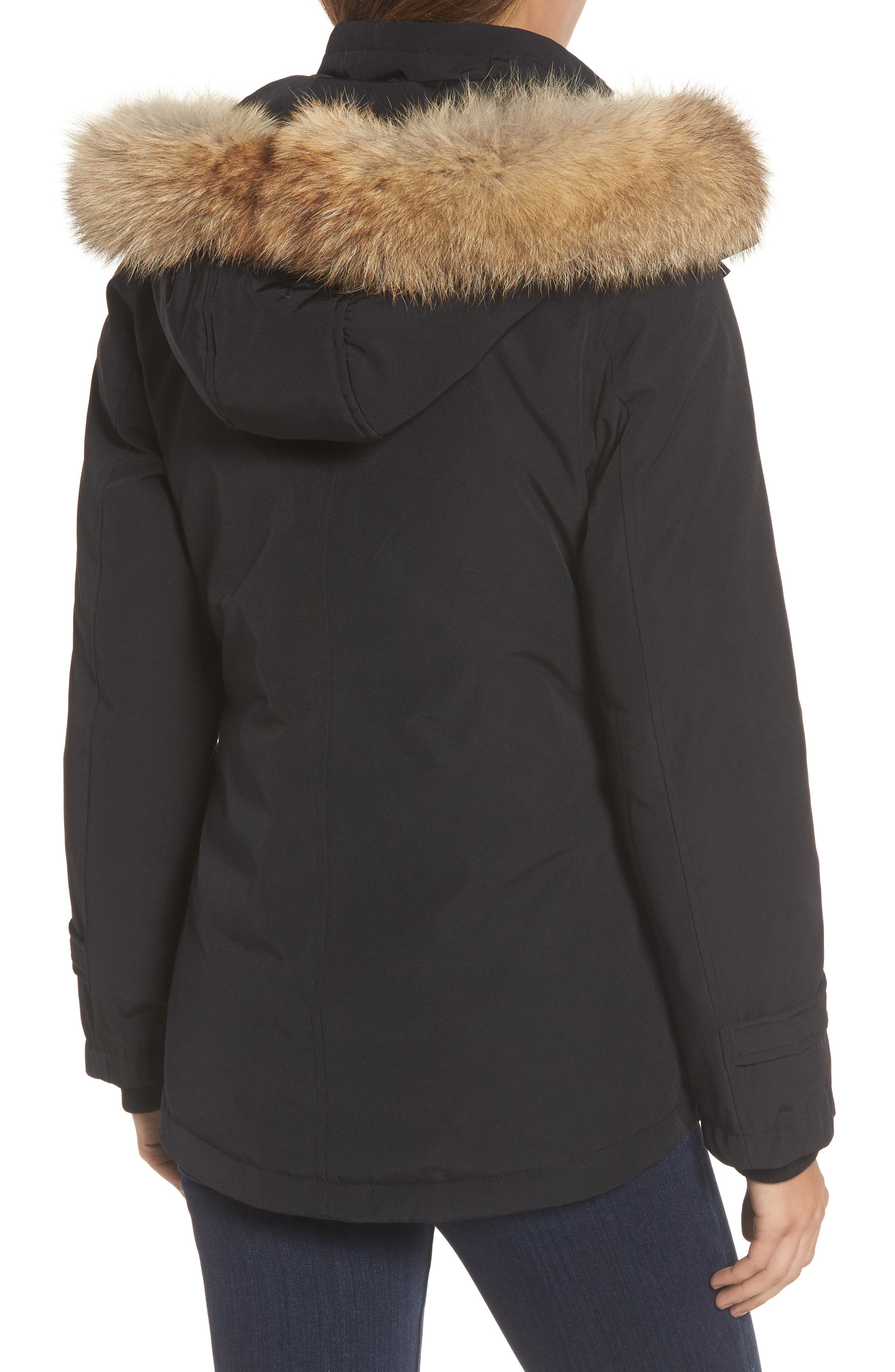 Bachelor Water Repellent Hooded Down Parka with Genuine Coyote Fur Trim,                             Alternate thumbnail 5, color,