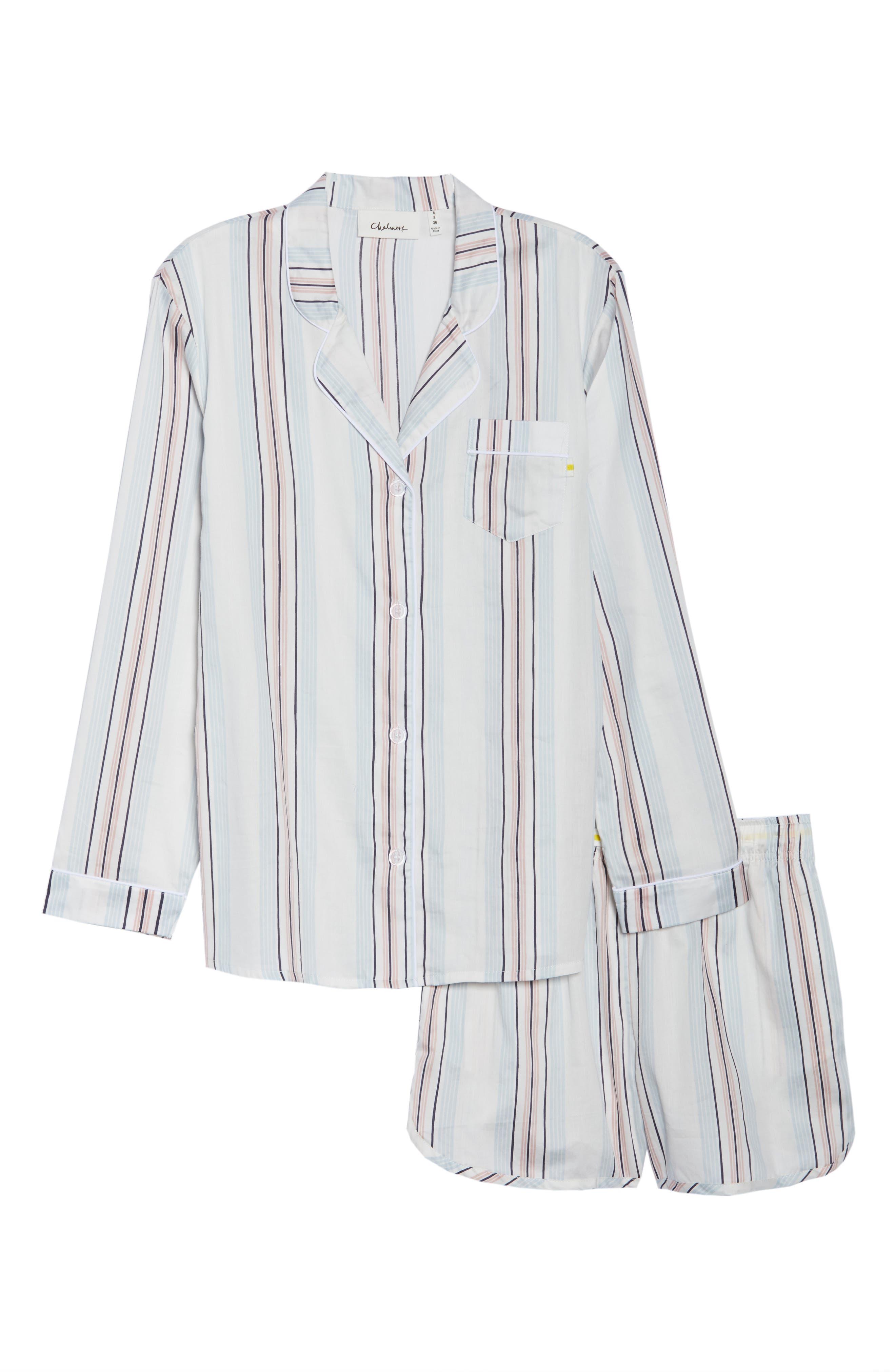 Candy Stripe Short Pajamas,                             Alternate thumbnail 6, color,                             110