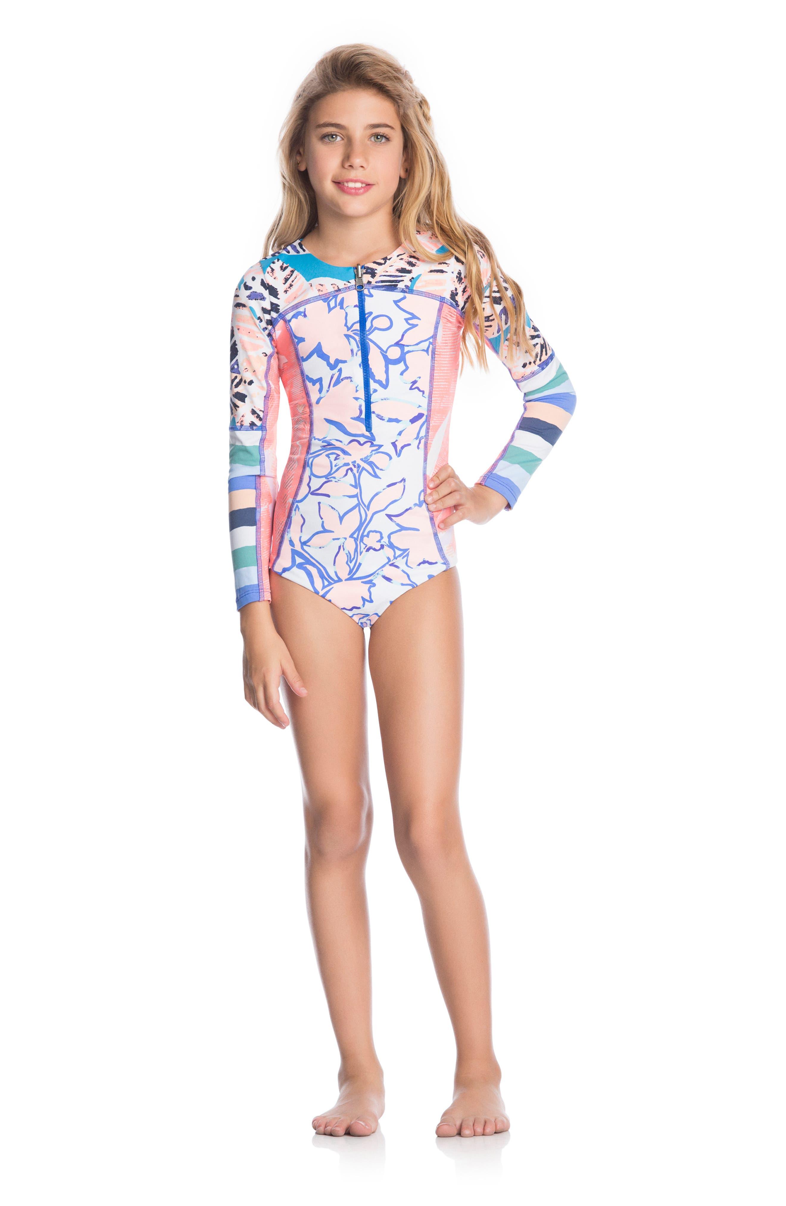 Ocean Joiness Reversible One-Piece Rashguard Swimsuit,                             Alternate thumbnail 2, color,                             MULTICOLOR