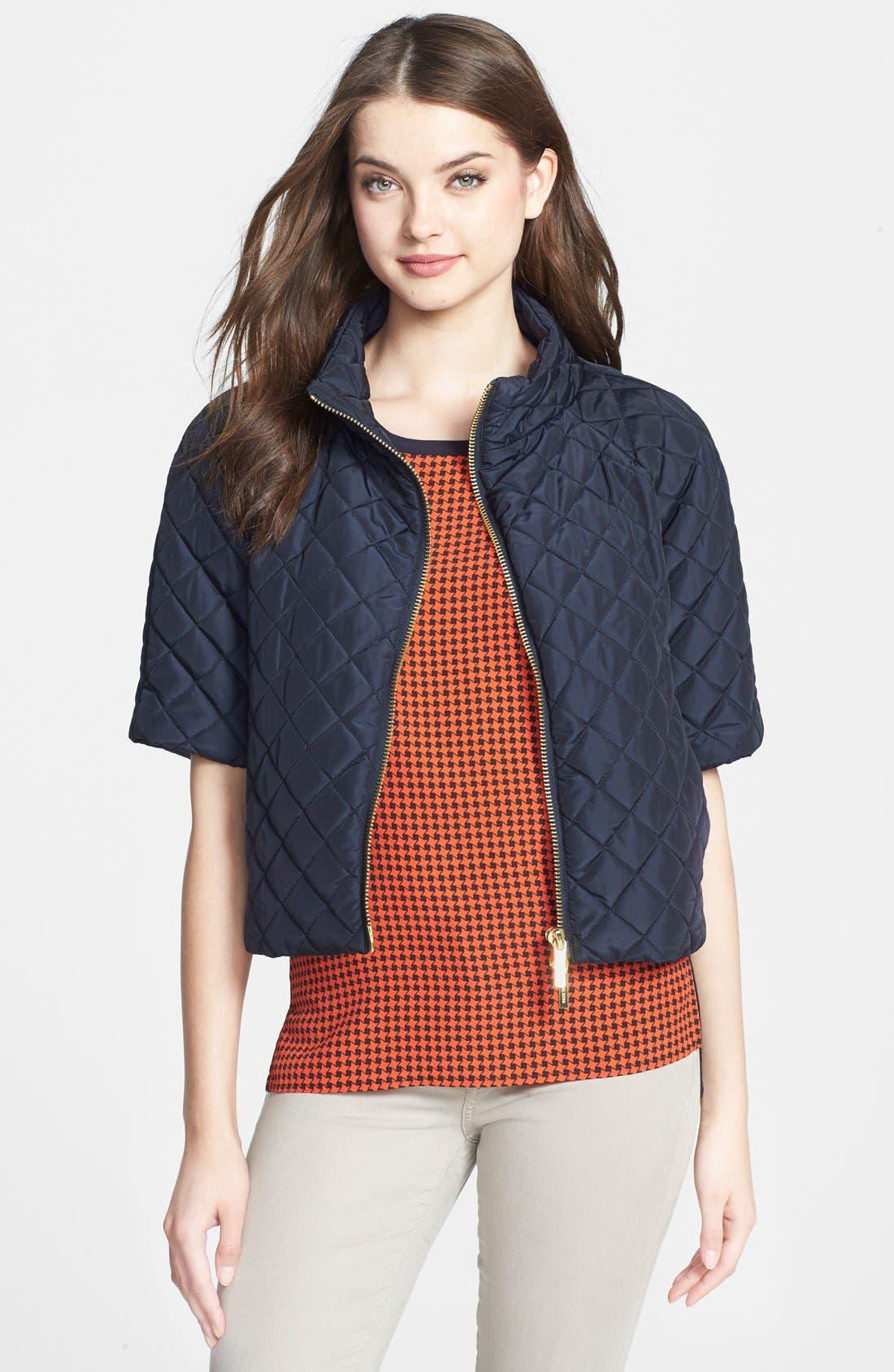 Short Sleeve Puffer Jacket, Main, color, 415