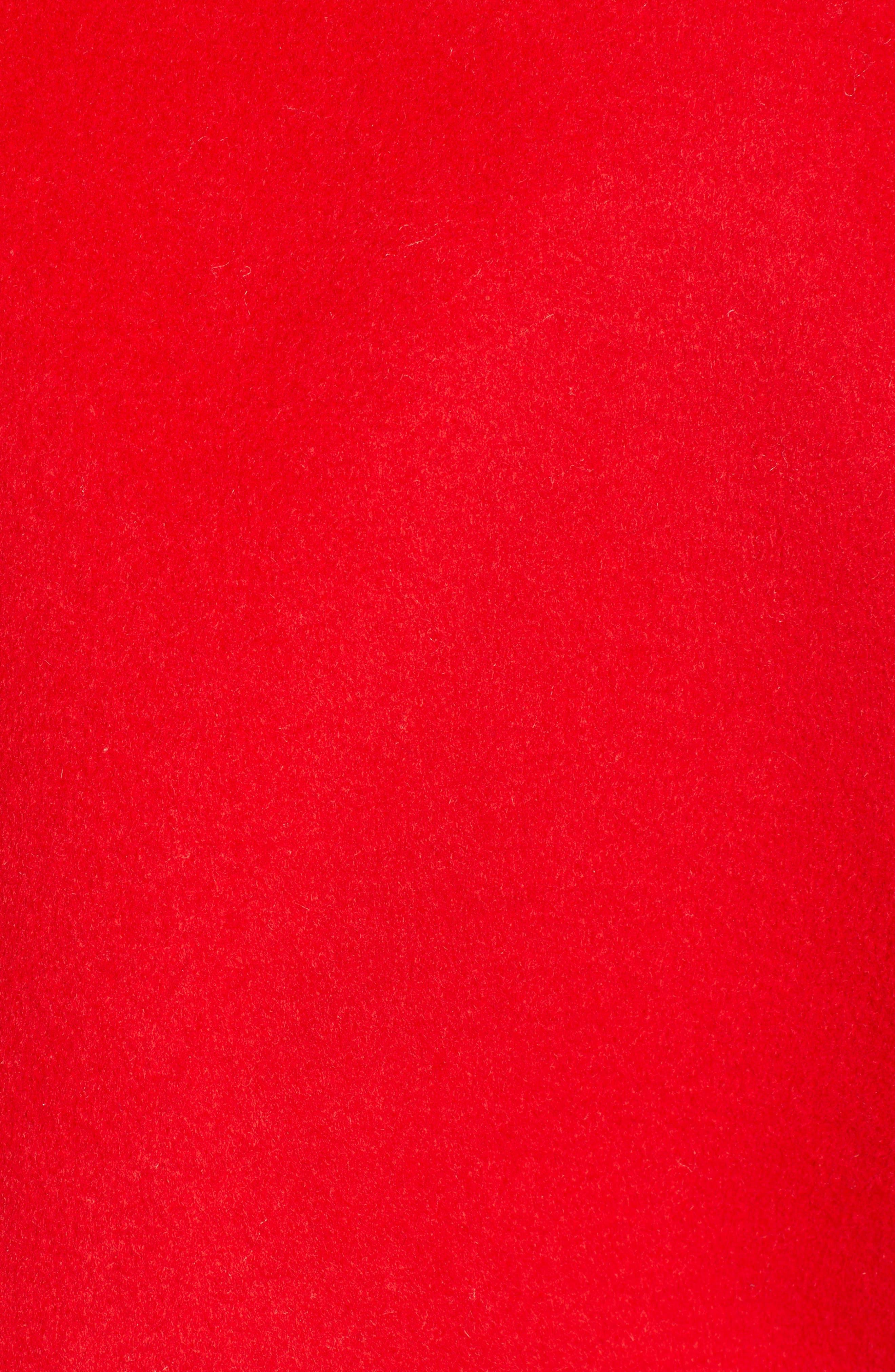 Varsity Bomber Jacket,                             Alternate thumbnail 7, color,                             SALSA RED