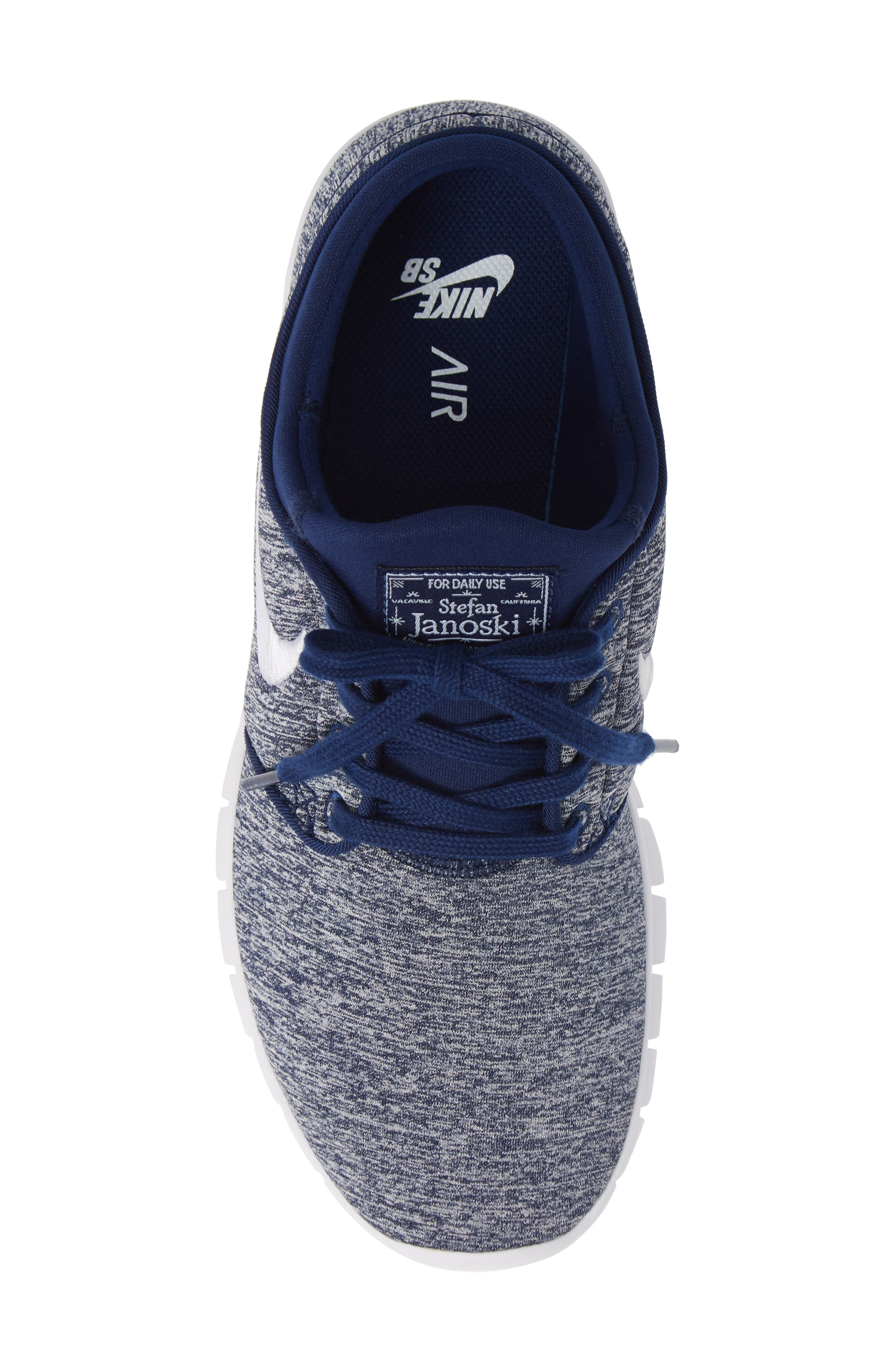 'Stefan Janoski - Max SB' Skate Shoe,                             Alternate thumbnail 5, color,                             BLUE VOID/ WHITE