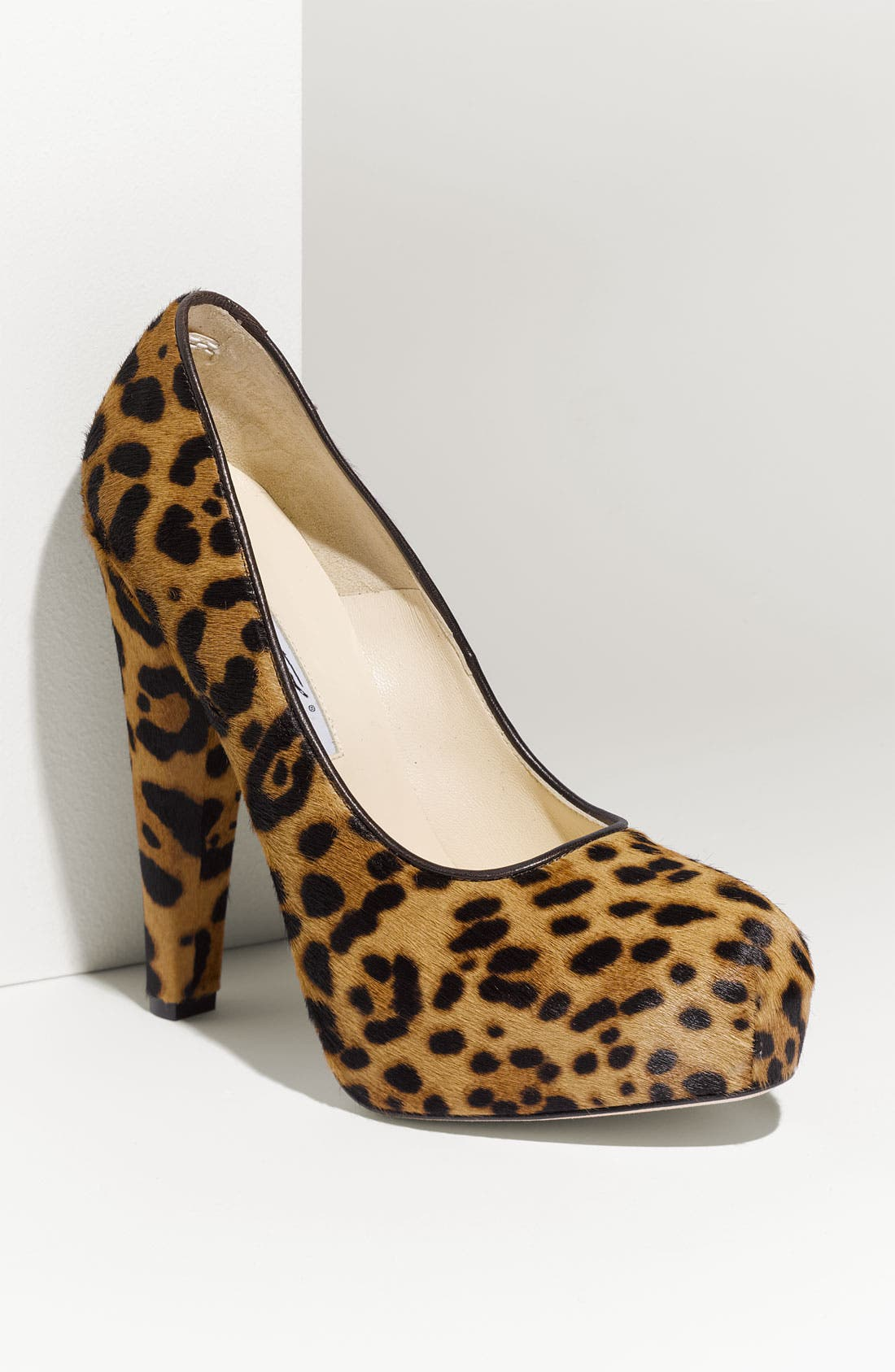 Leopard Print Calf Hair Platform Pump,                         Main,                         color,
