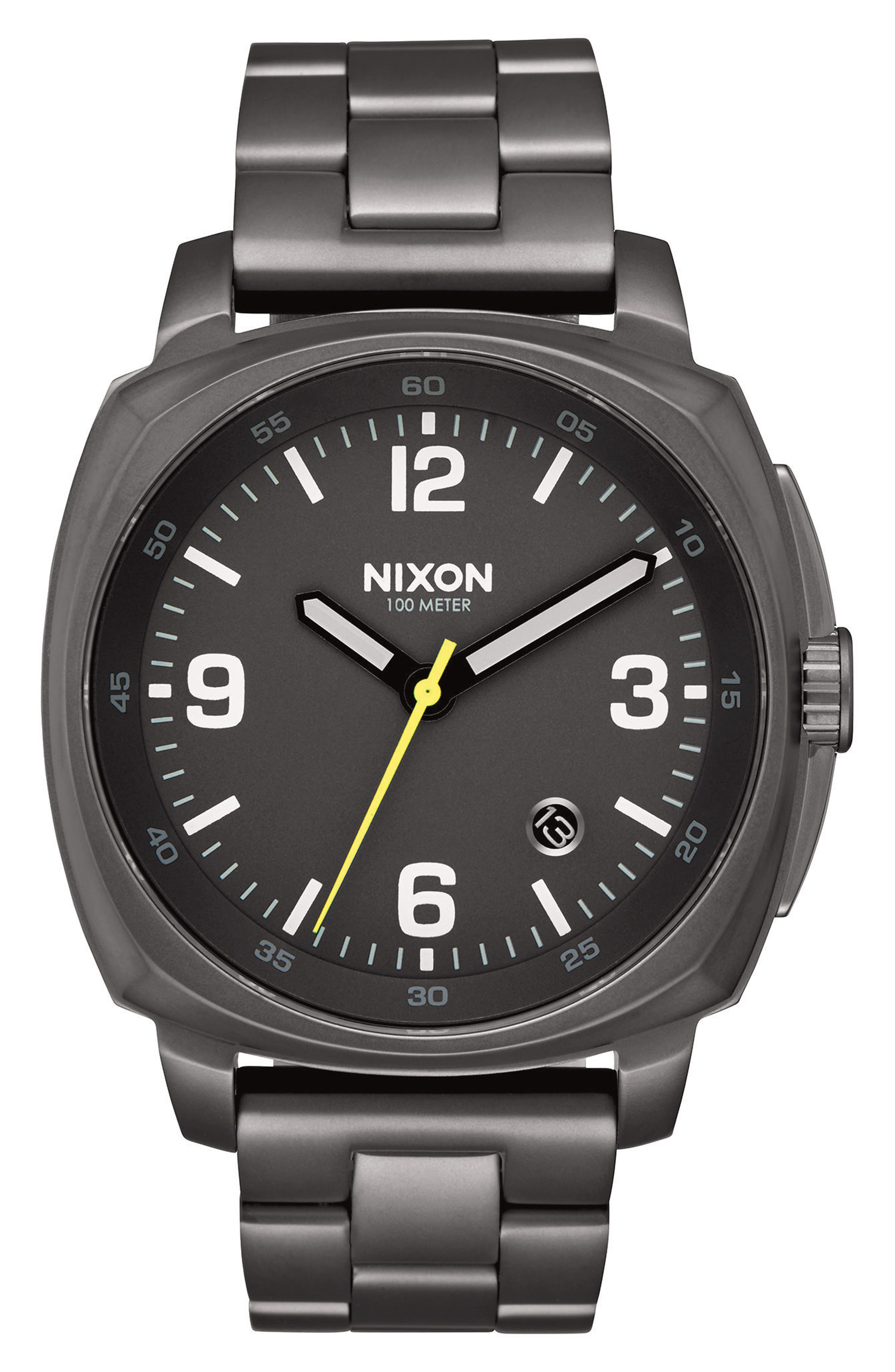 Charger Bracelet Watch, 42mm,                             Main thumbnail 1, color,                             GUNMETAL