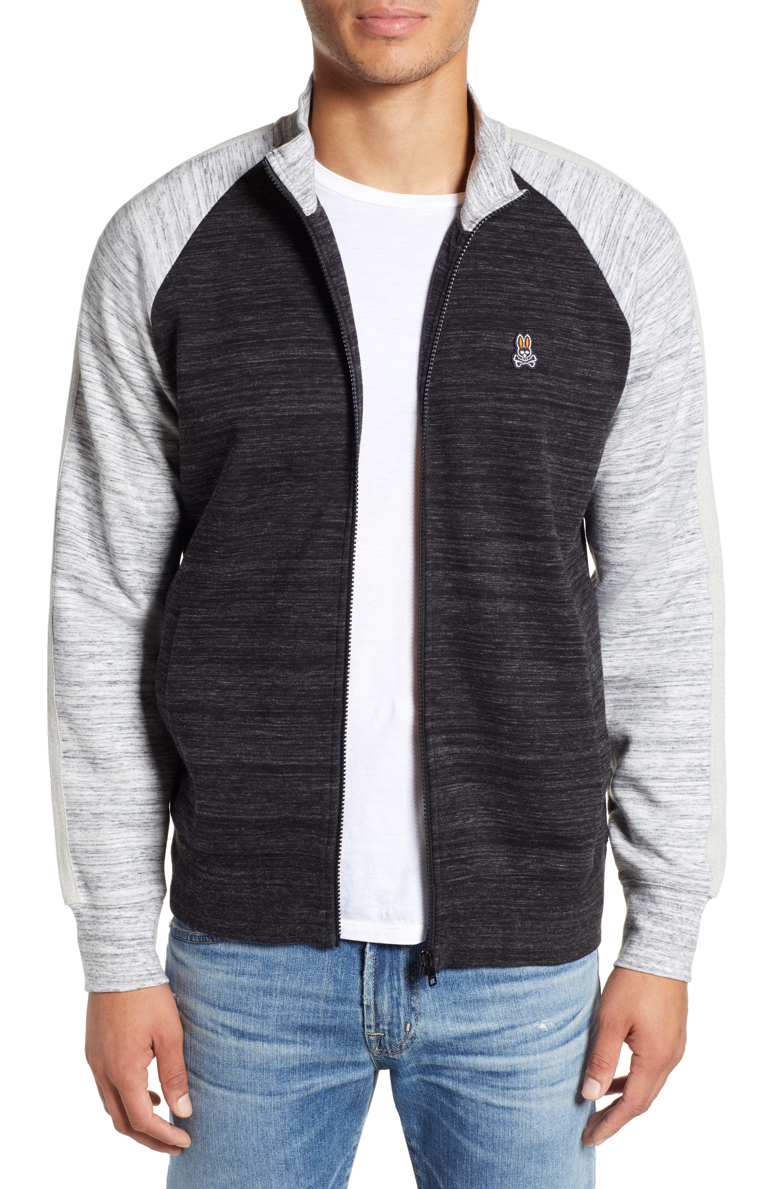 Bedford Track Jacket,                             Main thumbnail 1, color,                             HEATHER GRANITE