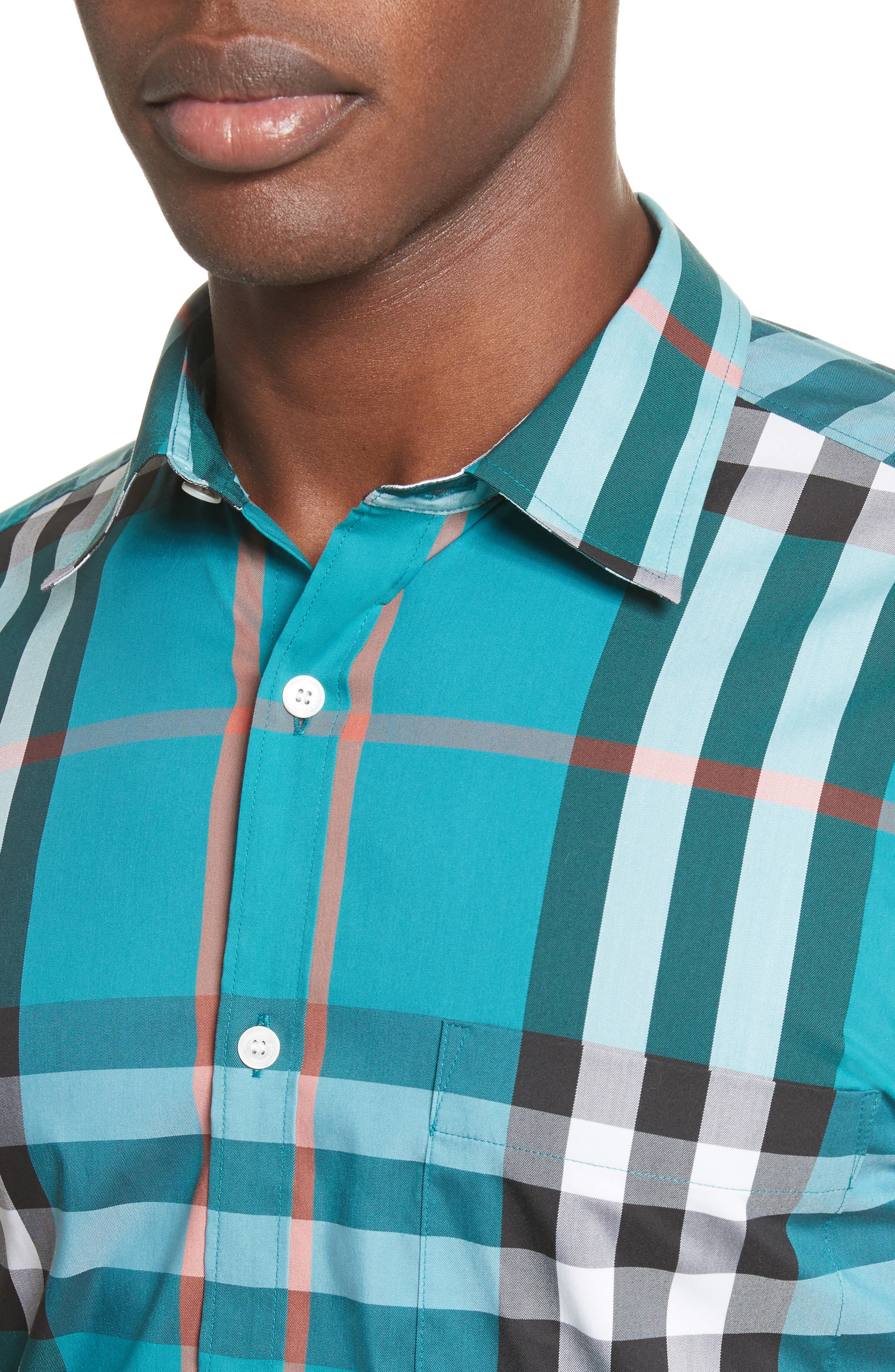 Nelson Check Sport Shirt,                             Alternate thumbnail 76, color,