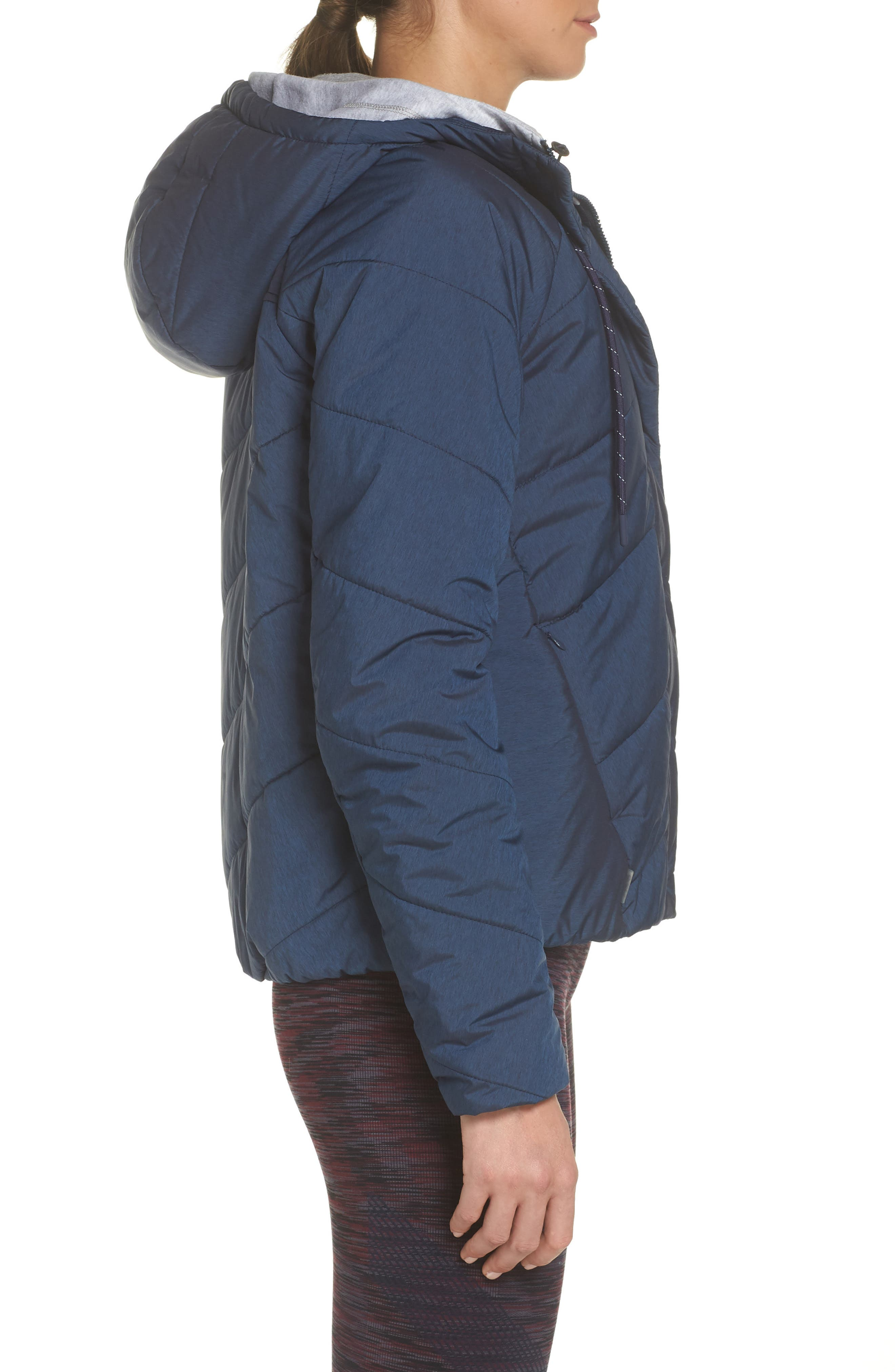 Toast Water Repellent Hooded Jacket,                             Alternate thumbnail 3, color,                             NAVY MARL