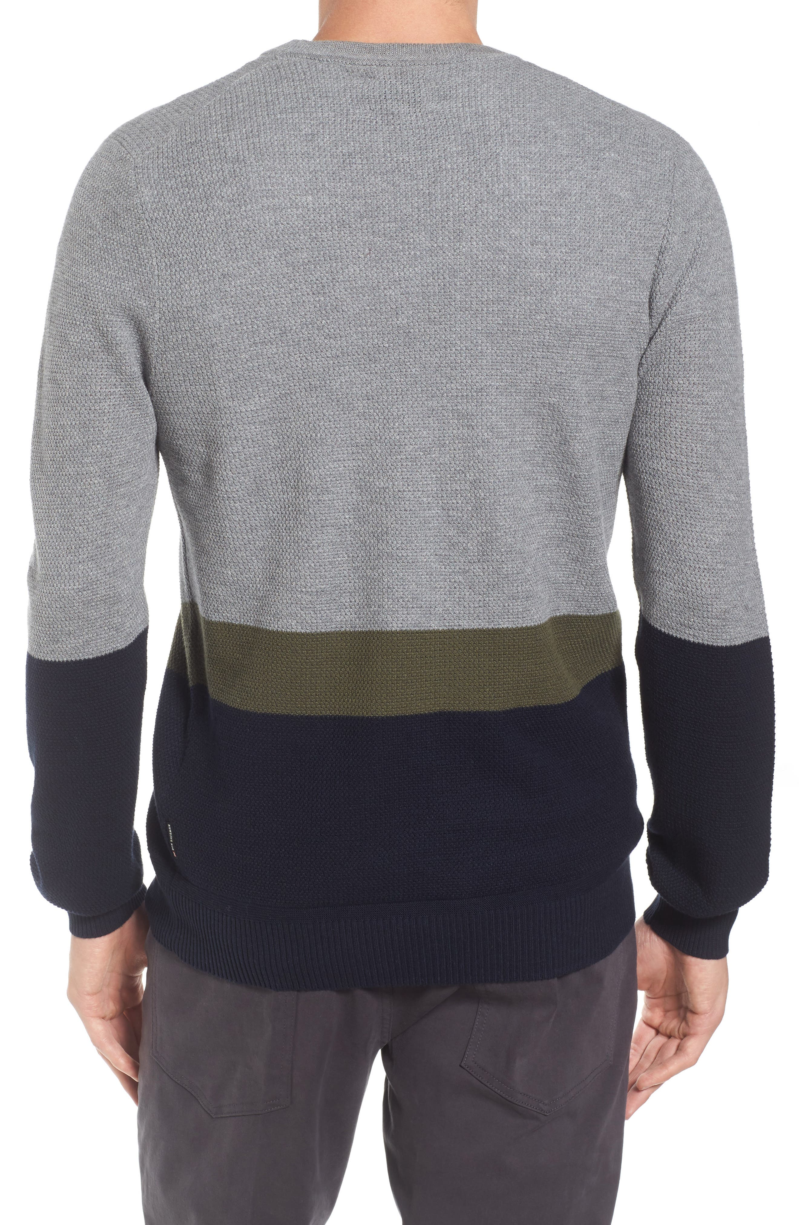 Textured Colorblock Sweater,                             Alternate thumbnail 2, color,                             036