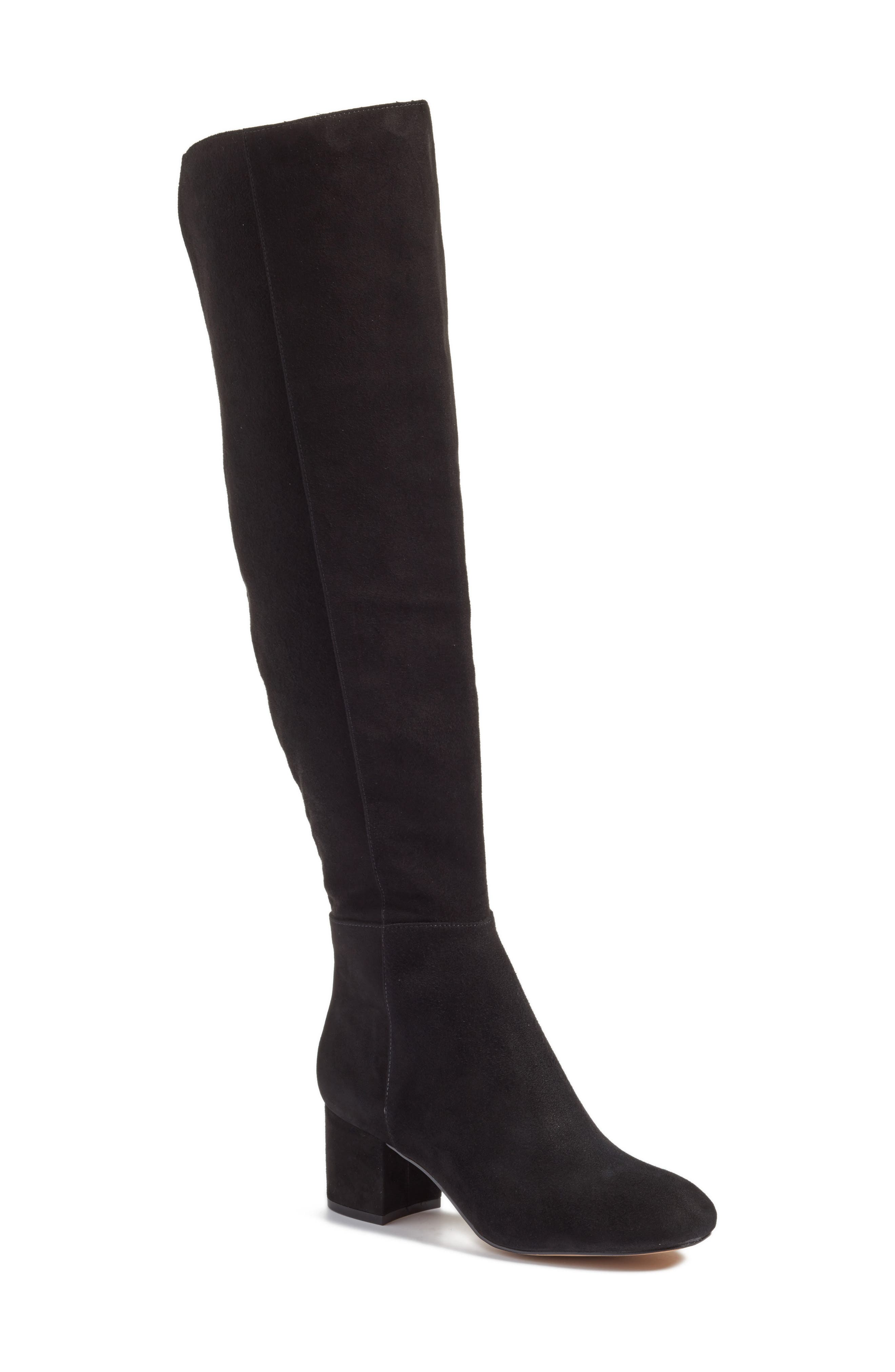 Scarlett Over the Knee Boot,                             Main thumbnail 1, color,                             001