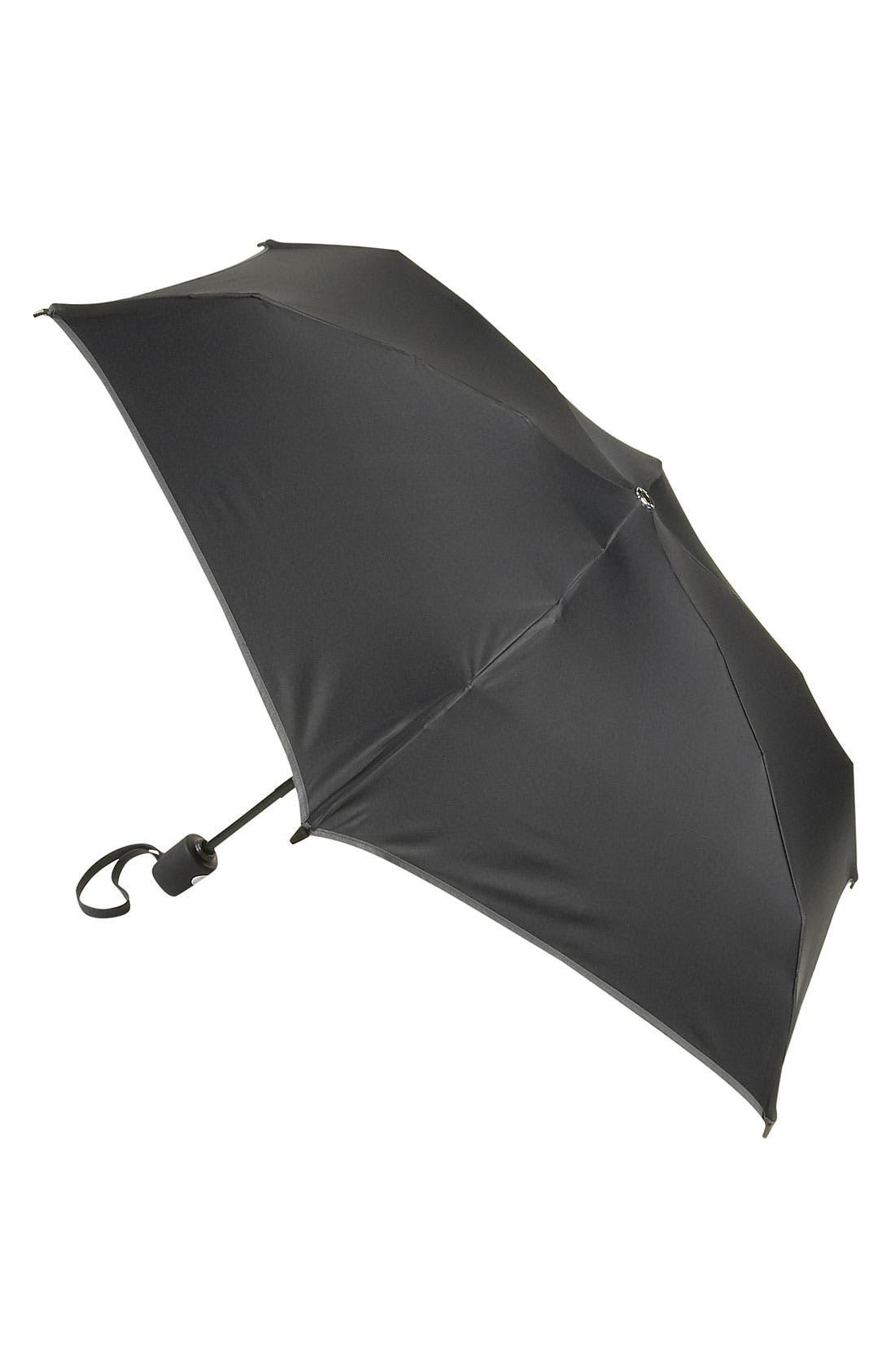 Small Auto Close Umbrella,                             Main thumbnail 1, color,                             BLACK