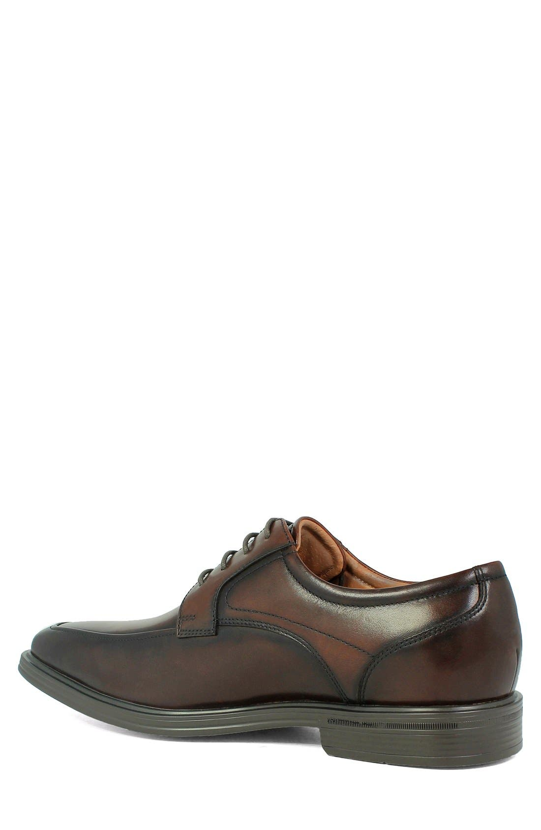 'Heights' Apron Toe Derby,                             Alternate thumbnail 2, color,                             BROWN LEATHER