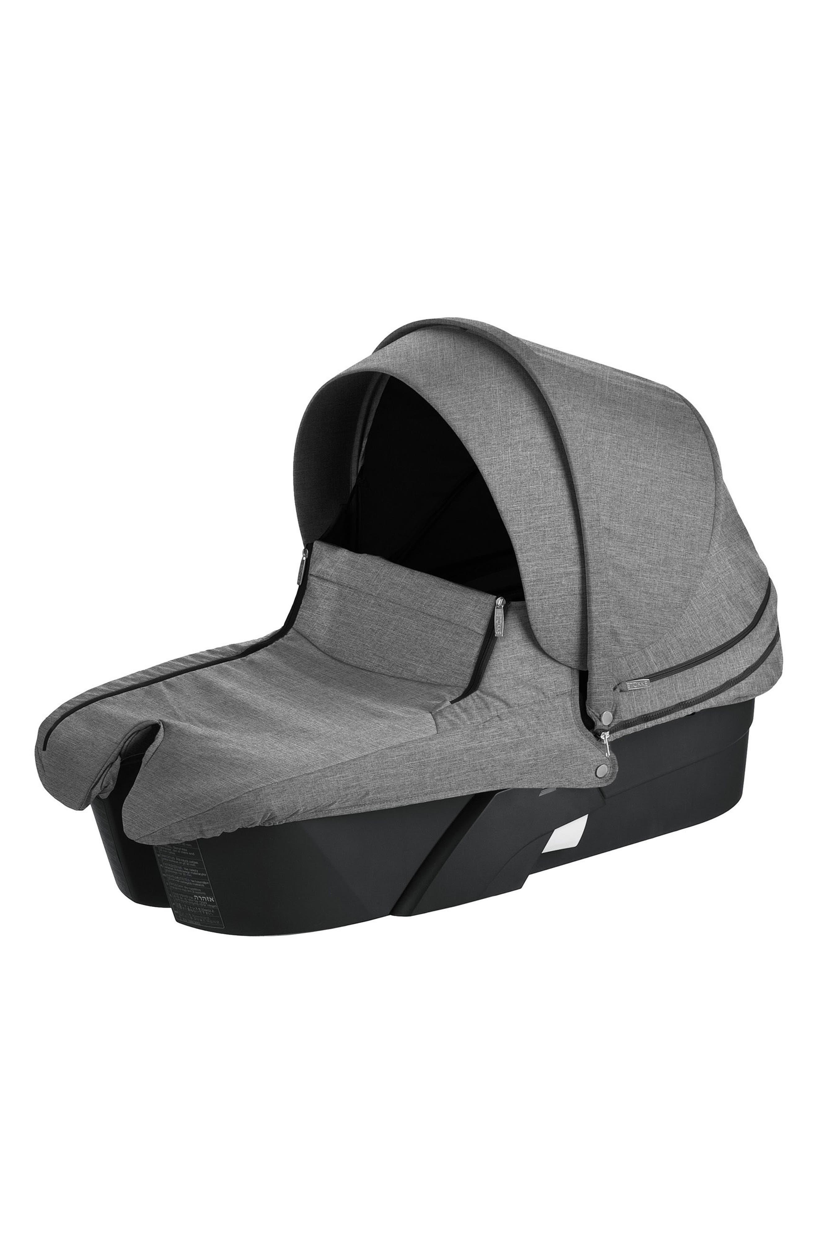 STOKKE Xplory<sup>®</sup> Black Frame Stroller Carry Cot, Main, color, 001