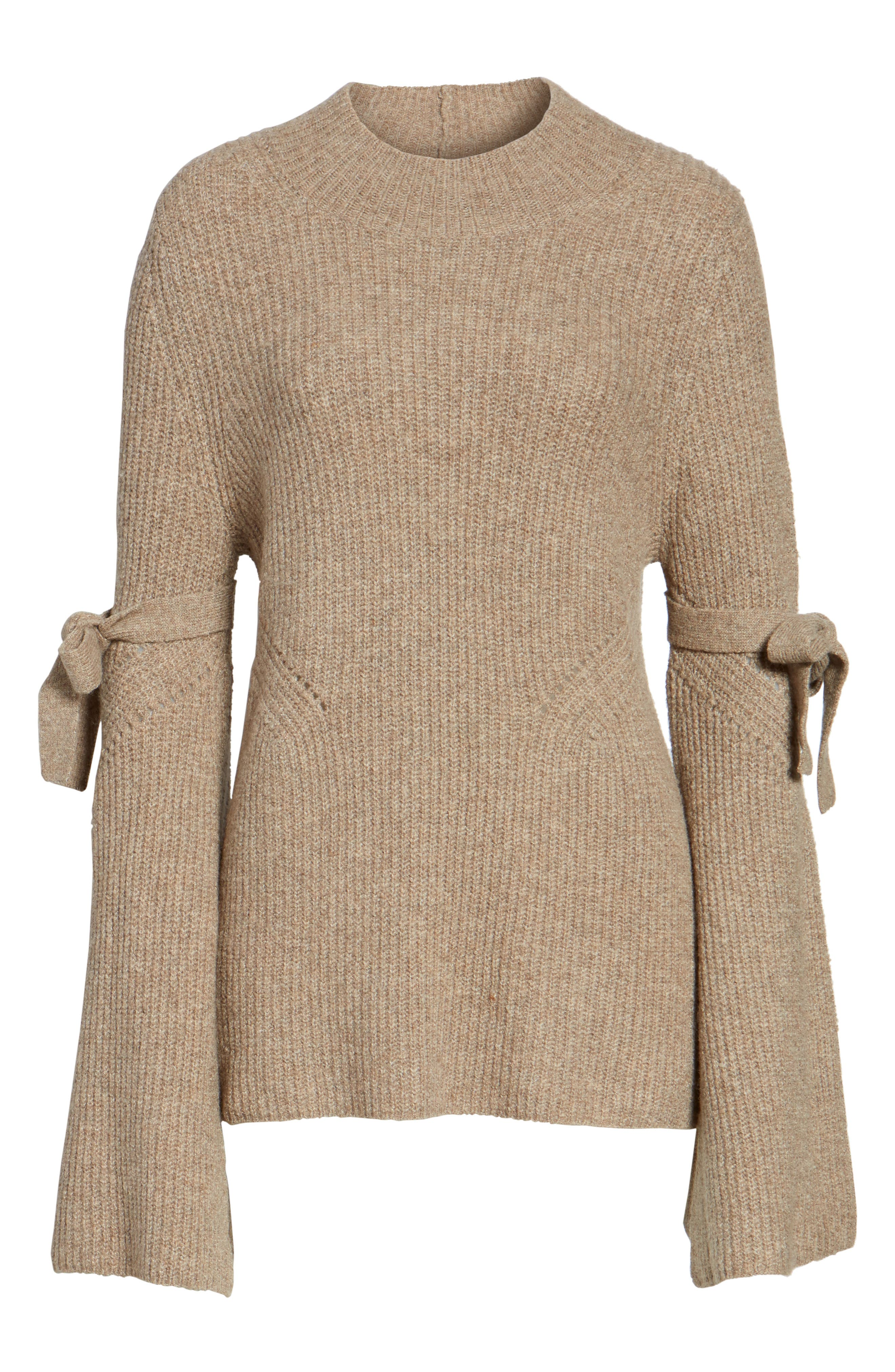 Tie Bell Sleeve Sweater,                             Alternate thumbnail 6, color,                             235