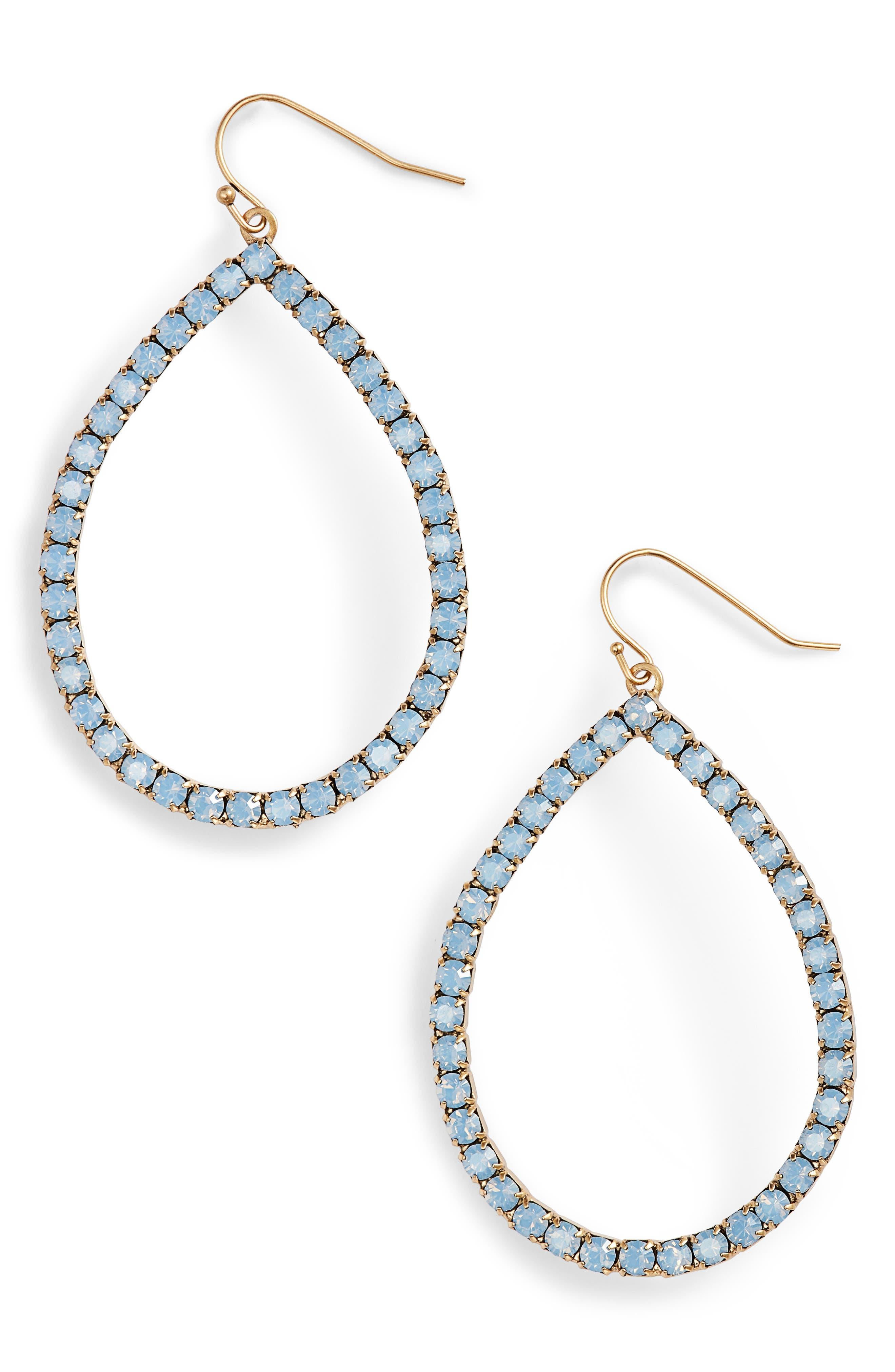 Emilia Crystal Teardrop Earrings,                             Main thumbnail 2, color,