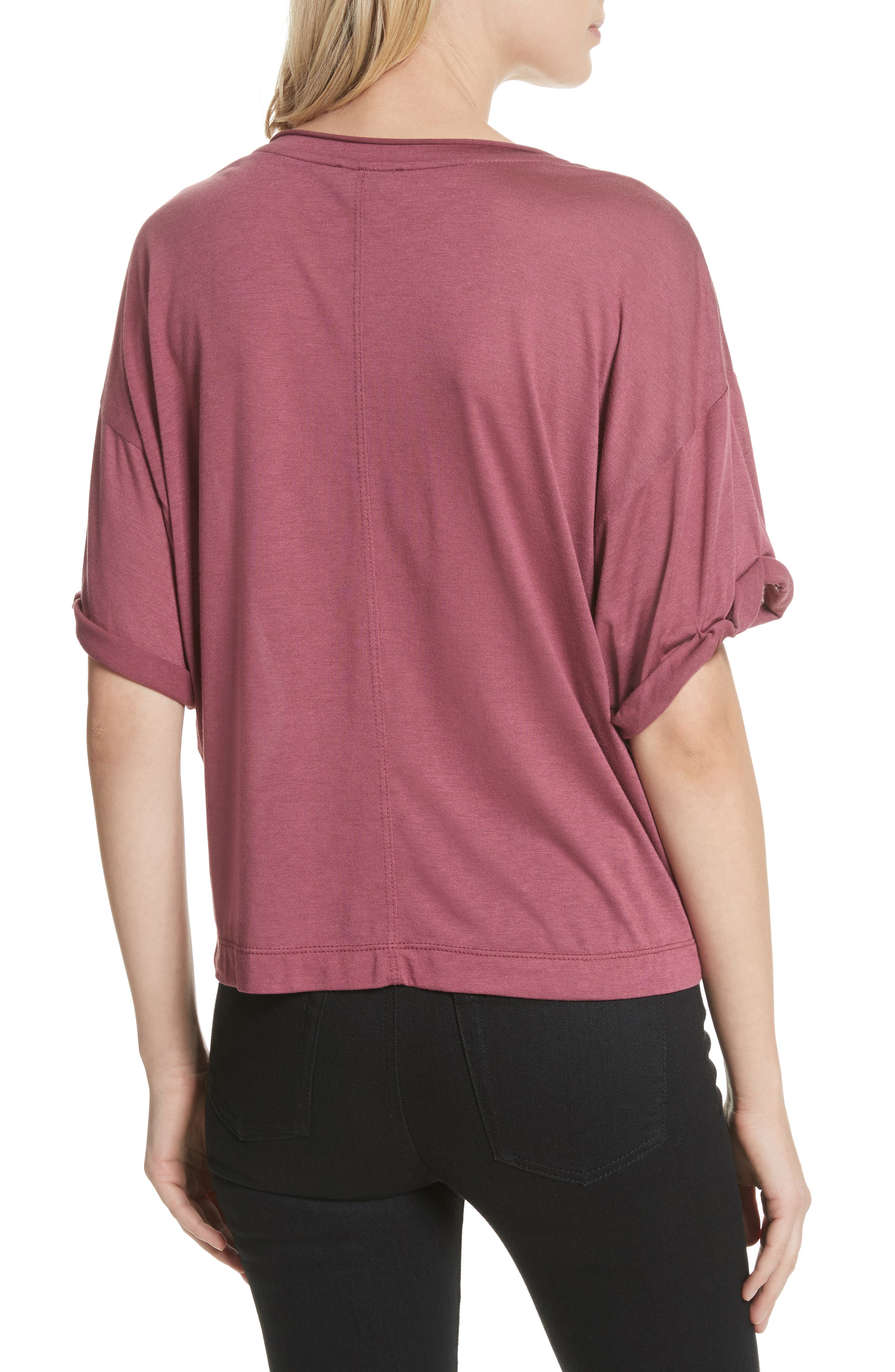 Perfect Boatneck Tee,                             Alternate thumbnail 2, color,