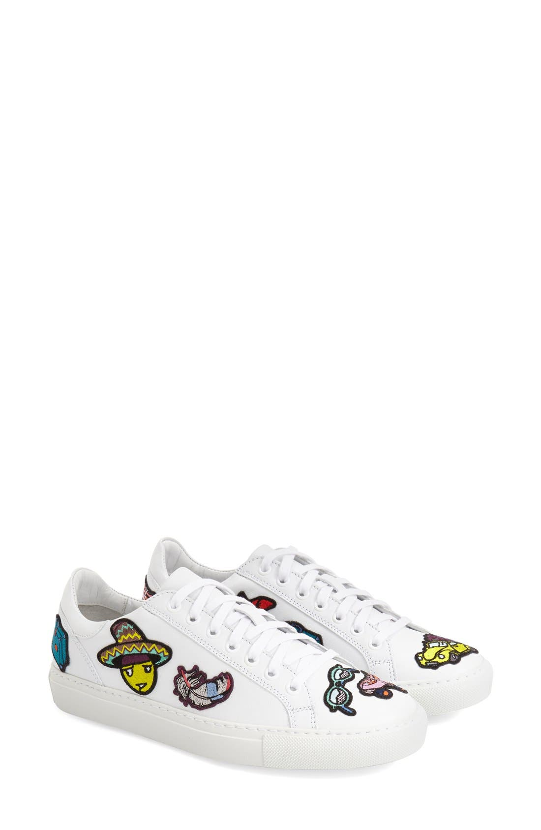 MIRA MIKATI,                             'Patches' Low Top Sneaker,                             Main thumbnail 1, color,                             111