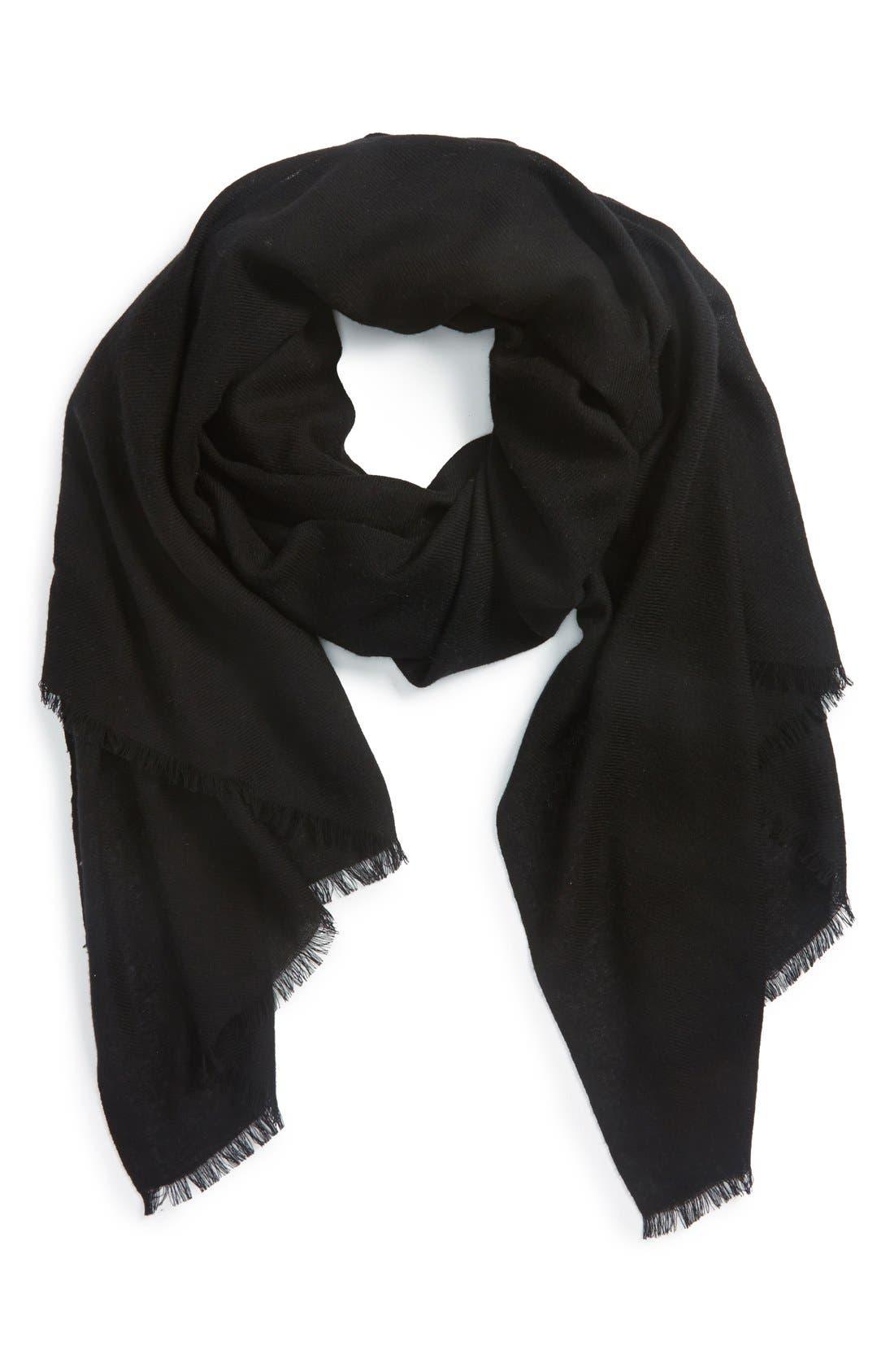 Wool & Cashmere Wrap,                         Main,                         color,