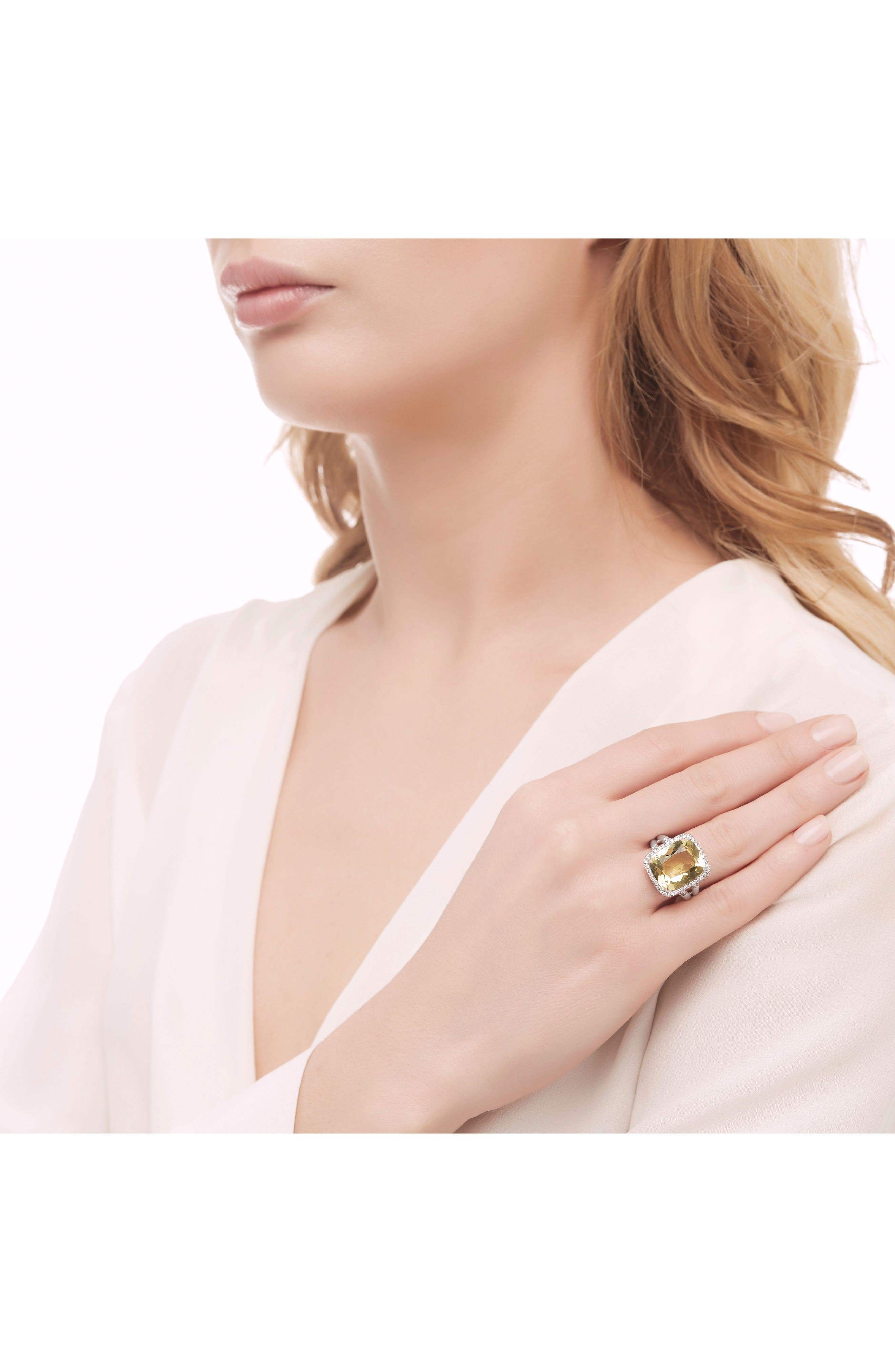 Classic Chain Gemstone Ring,                             Alternate thumbnail 4, color,                             041