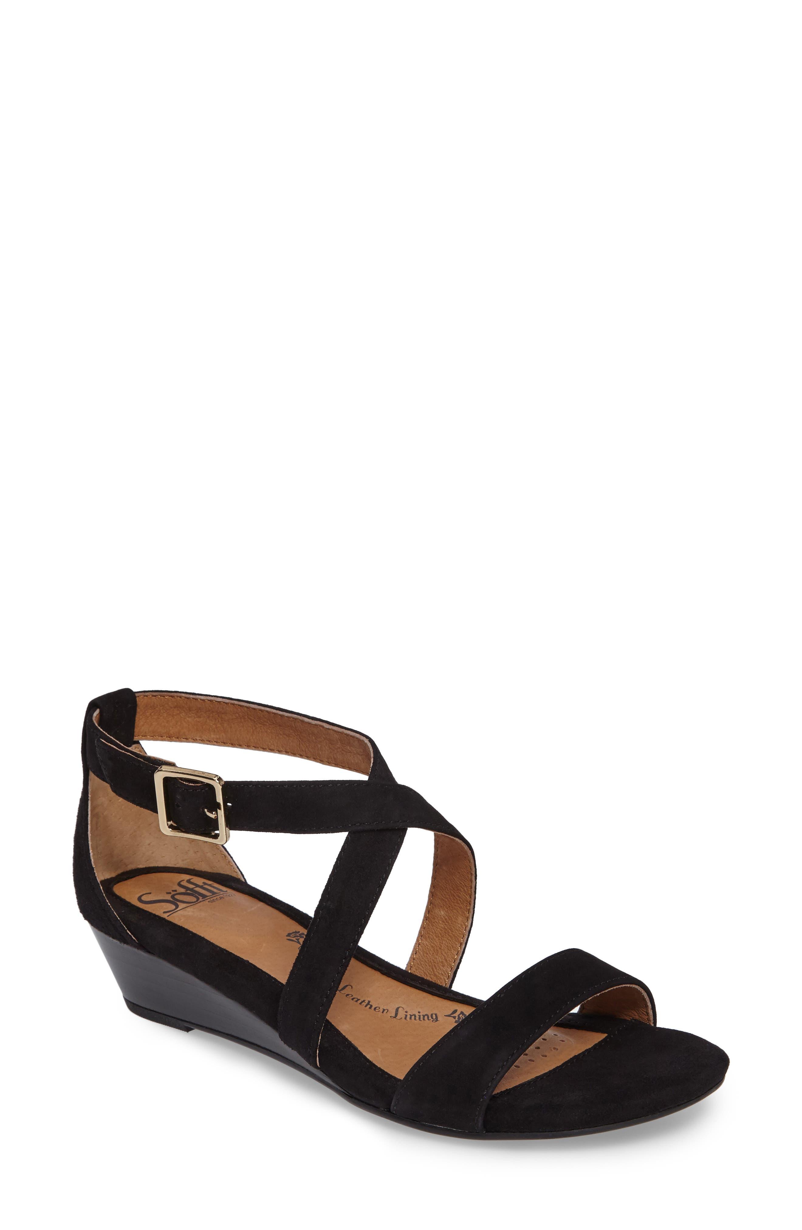 'Innis' Low Wedge Sandal,                             Main thumbnail 1, color,
