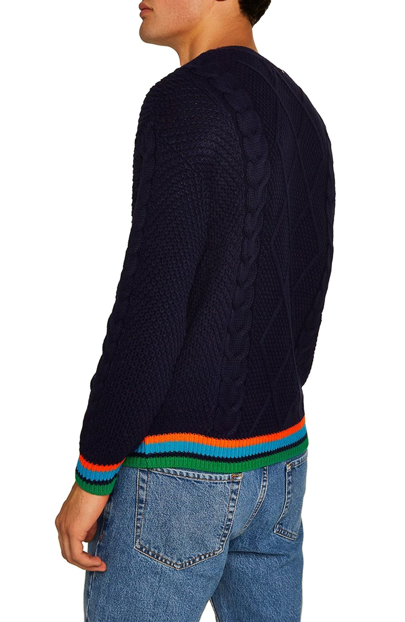 Classic Fit Cable Knit Sweater,                             Alternate thumbnail 2, color,                             411