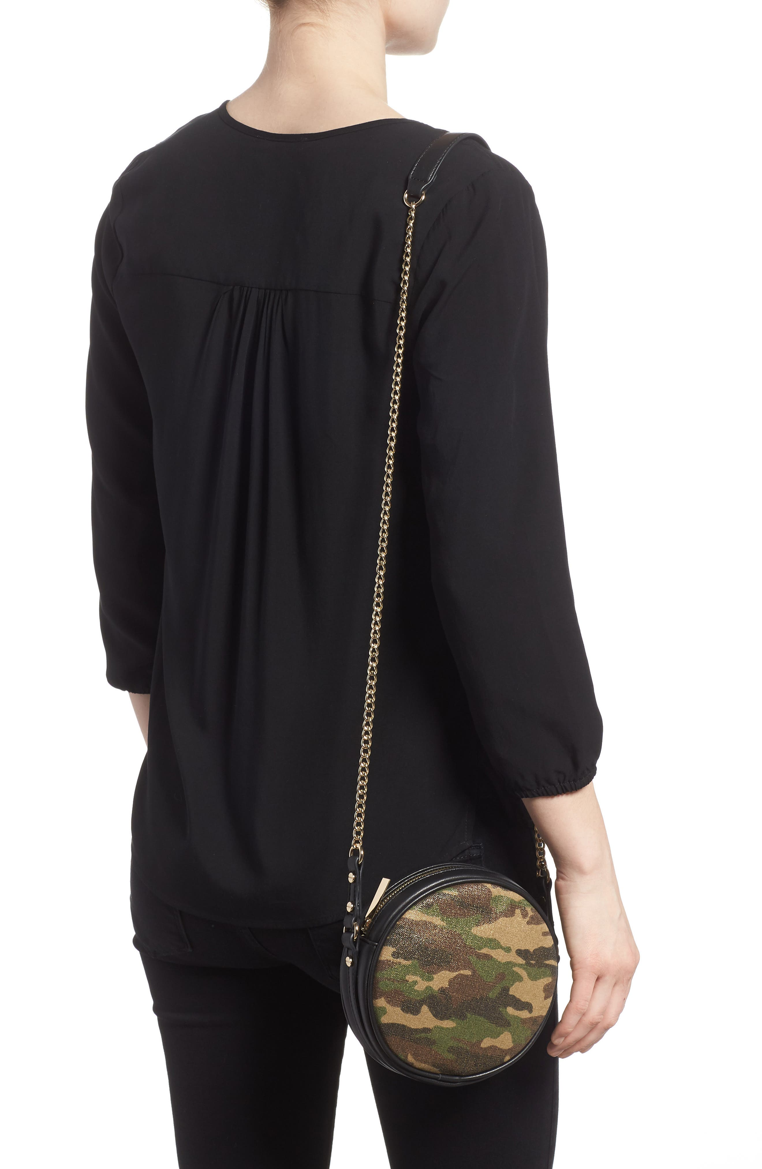 Mali + Lili Camouflage Vegan Leather Canteen Crossbody Bag,                             Alternate thumbnail 2, color,                             340