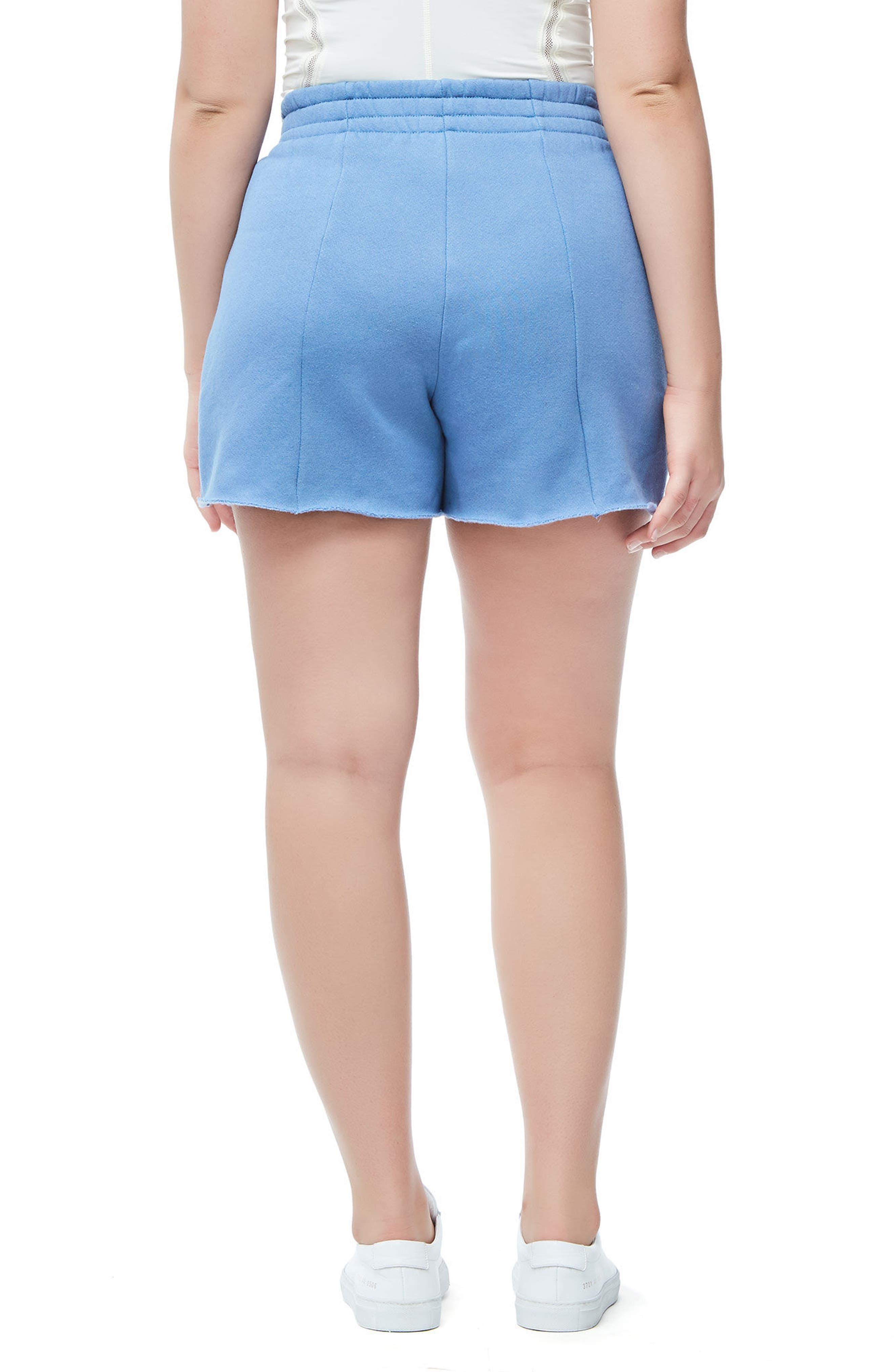 Wide Leg Sweat Shorts,                             Alternate thumbnail 5, color,                             401